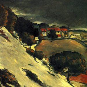 Fonte des Neiges à l'Estaque, by Paul Cézanne, 1870