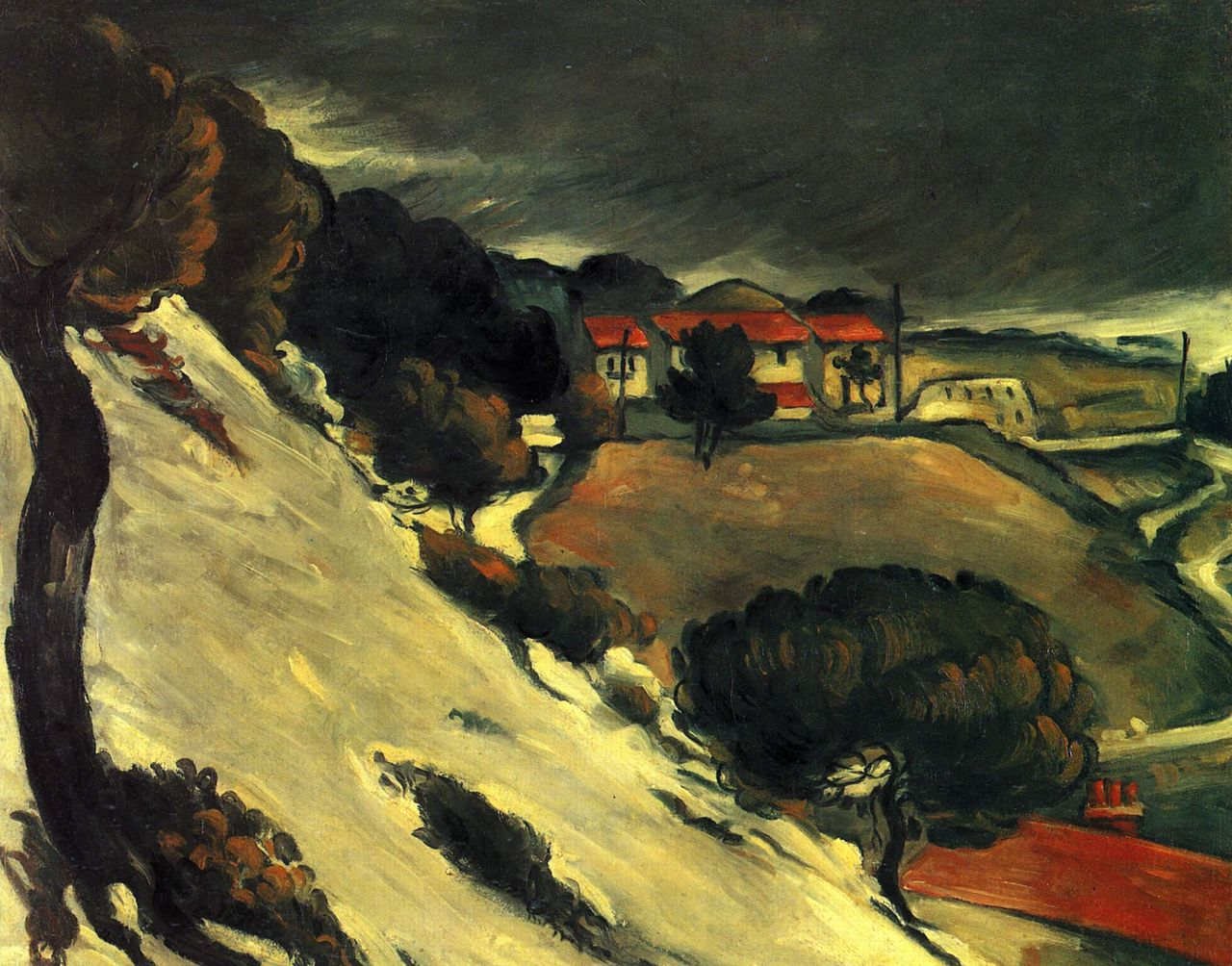 Fonte des Neiges à l'Estaque, by Paul Cézanne, 1870