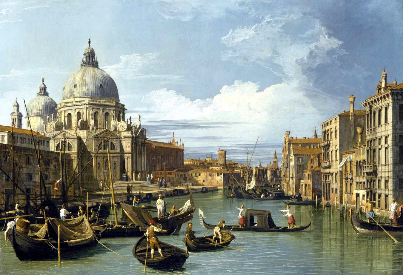 Entrance to the Grand Canal, Venice, Italy, by Canaletto, circa 1730