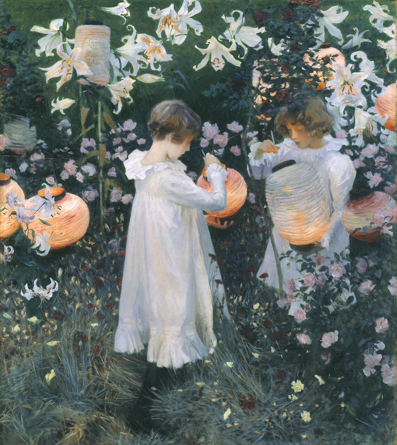 Carnation, Lily, Lily, Rose, by John Singer Sargent 1885-6