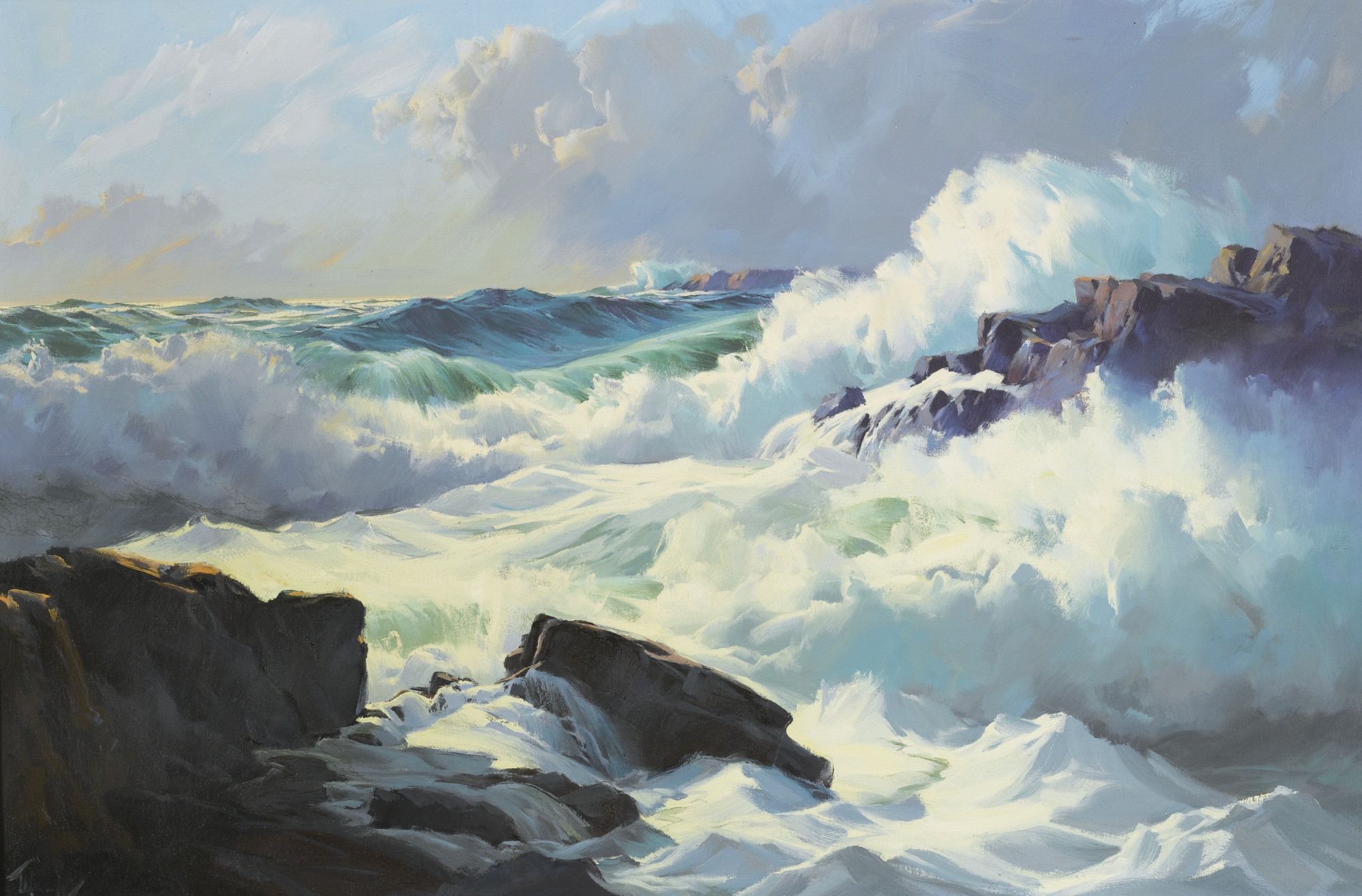 Breaking Surf, by Frederick Judd Waugh