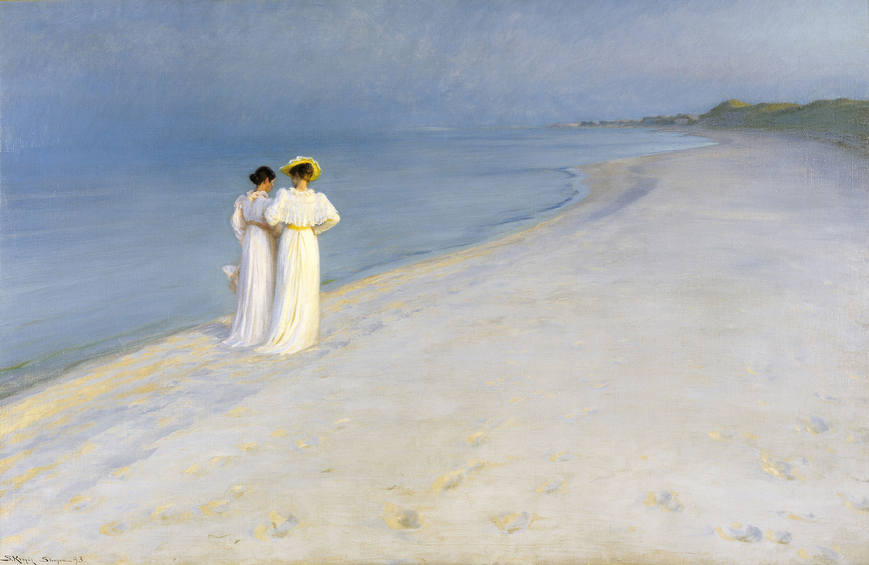 Summer Evening on Skagen's Southern Beach, by Peder Severin Krøyer, 1893