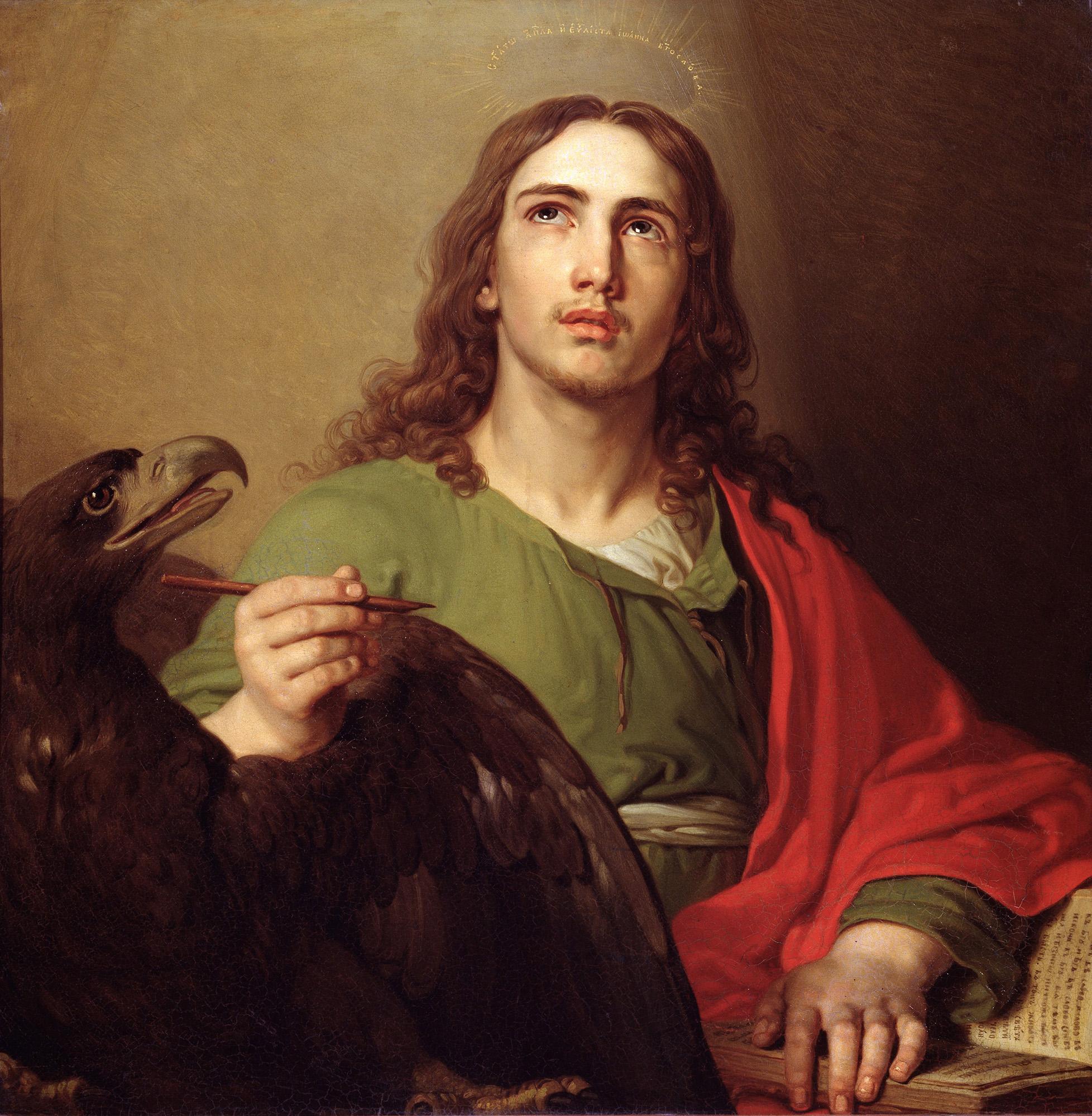 John the Evangelist, by Vladimir Borovikovsky, 1804-09