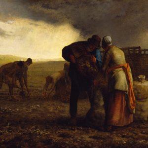 The Potato Harvest, by Jean-François Millet, 1857