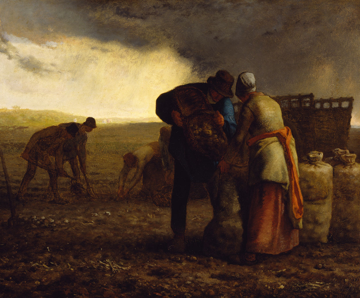 The Potato Harvest, by Jean-François Millet, 1857