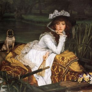 Young Lady in a Boat, by James Jacques Joseph Tissot, 1870