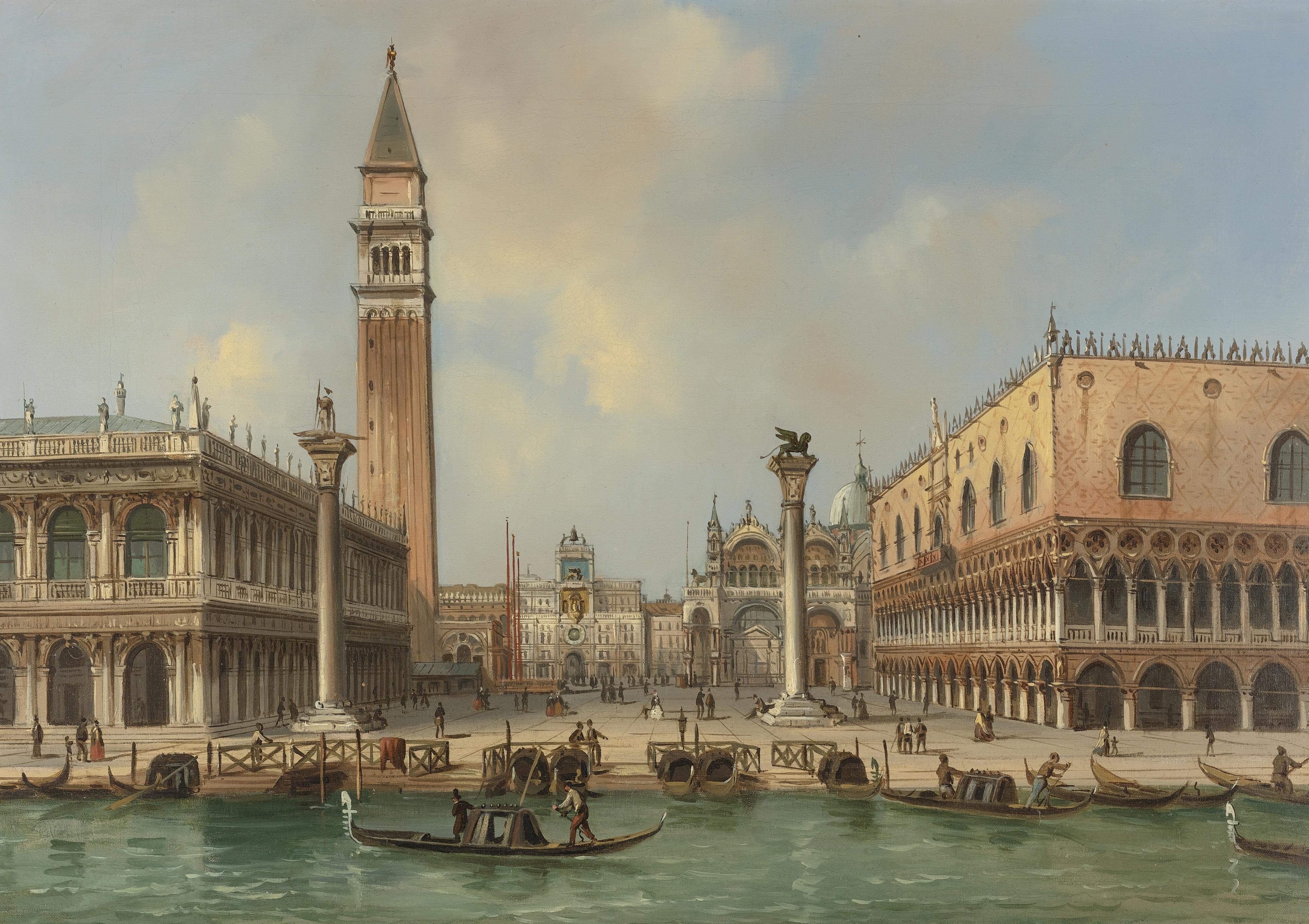 The Piazzetta di San Marco, Venice, by Carlo Grubacs