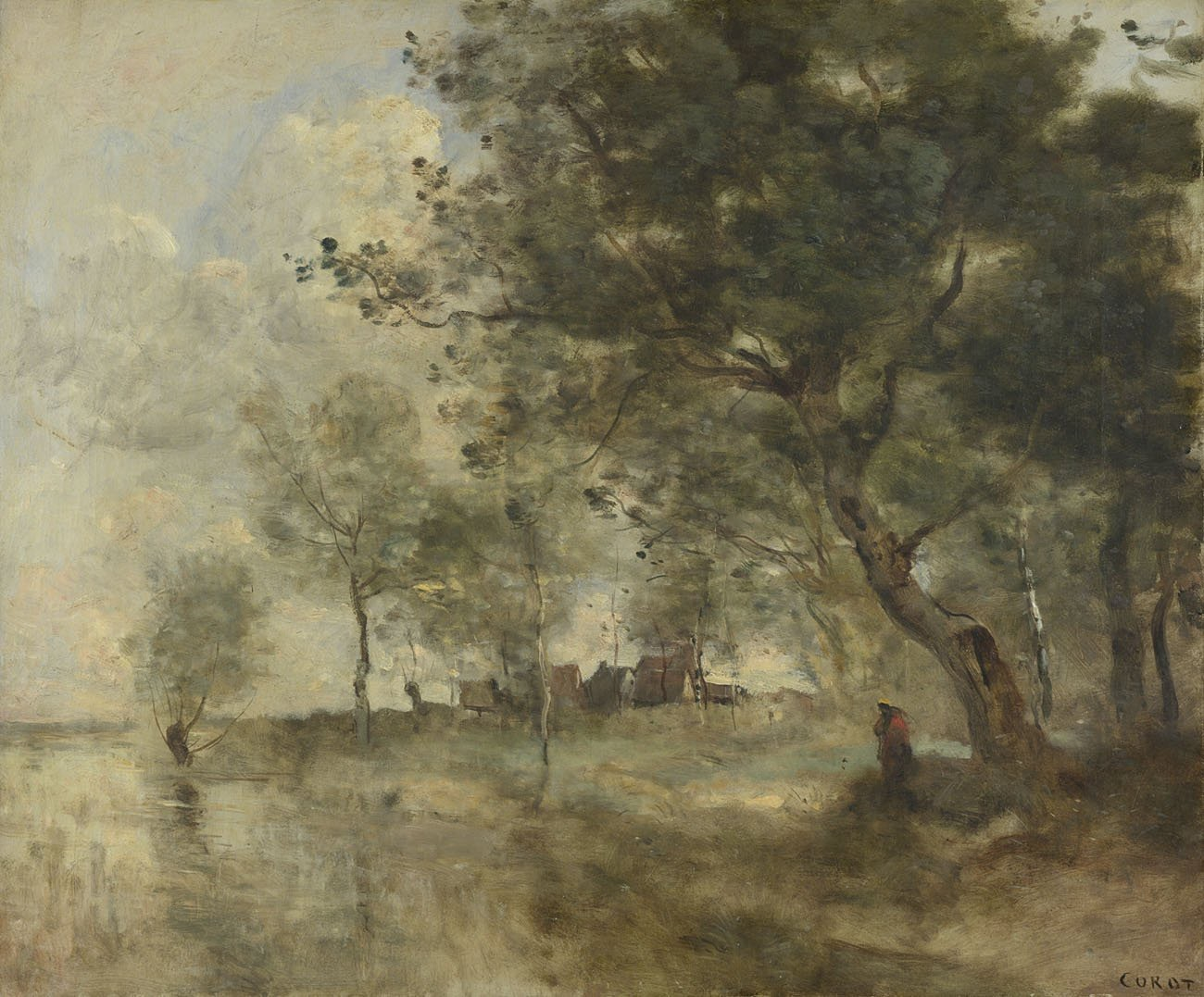 A Flood, by Jean-Baptiste-Camille Corot