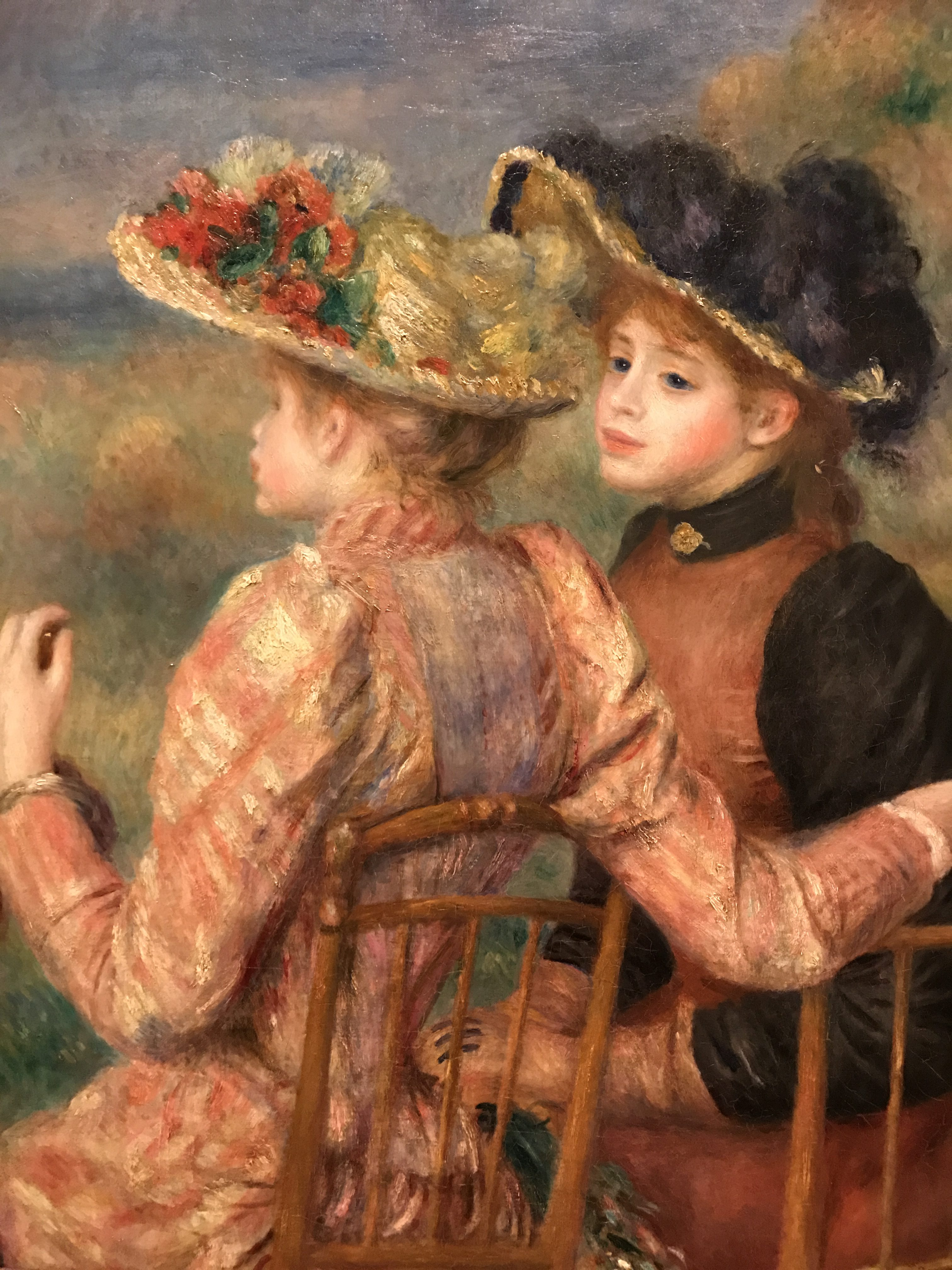 Two Girls by Pierre-Auguste Renoir, circa 1892, my photo