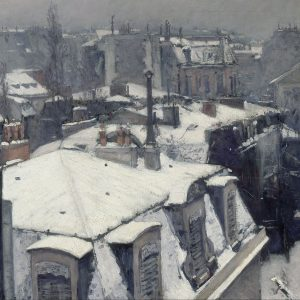 Rooftops in the Snow, by Gustave Caillebotte, 1878