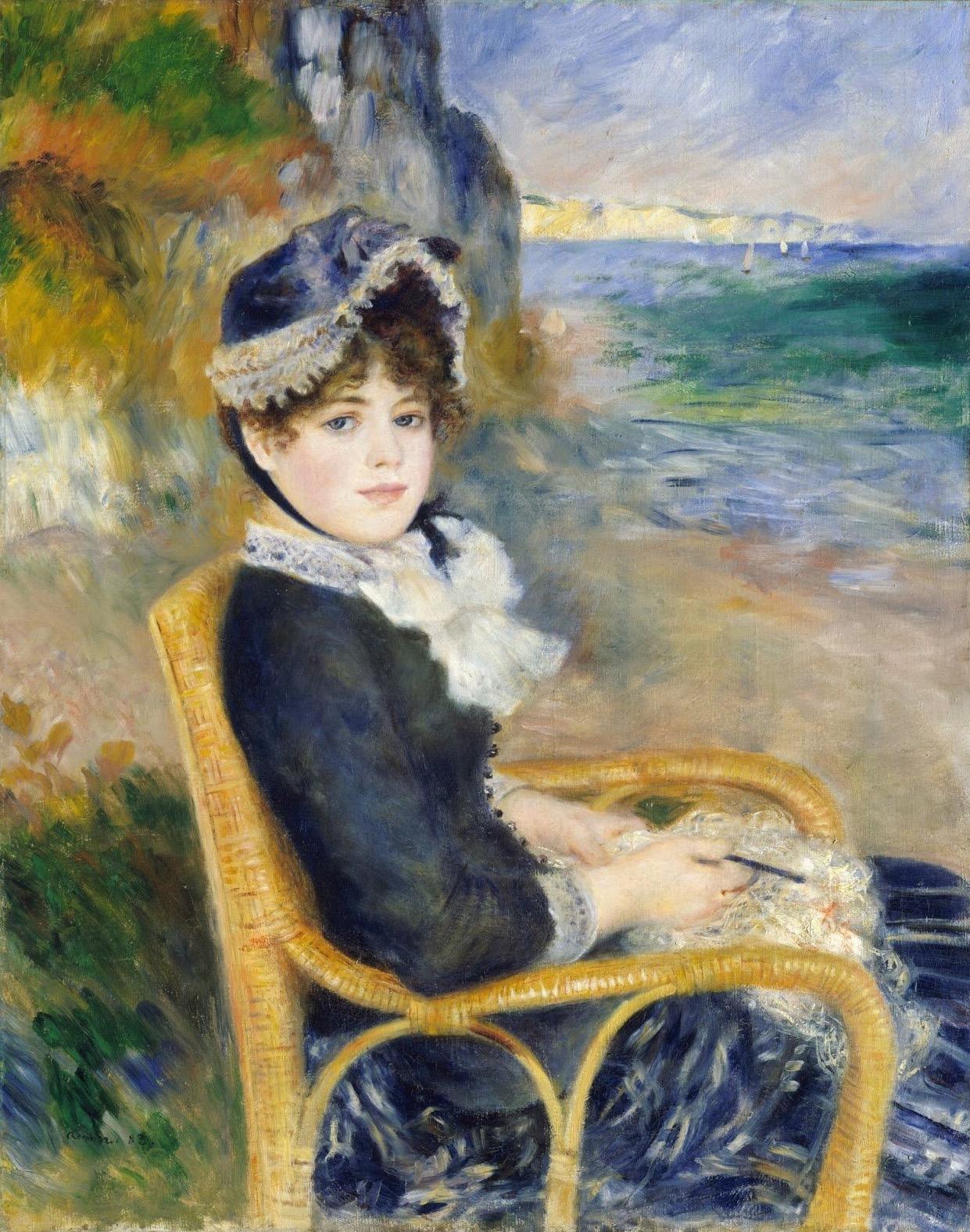 By the Seashore, by Pierre-Auguste Renoir, 1883