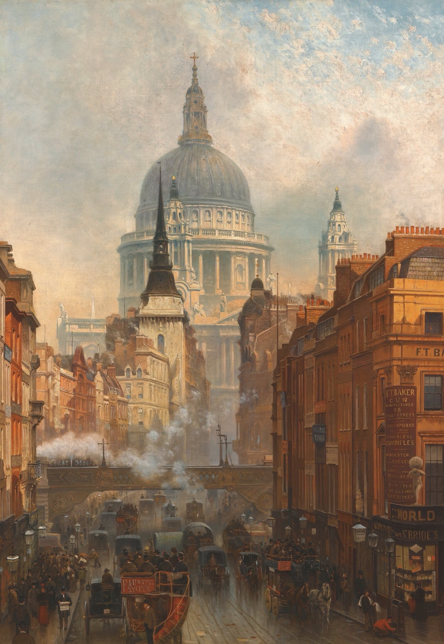 Ludgate, Evening, by John O'Connor, 1887