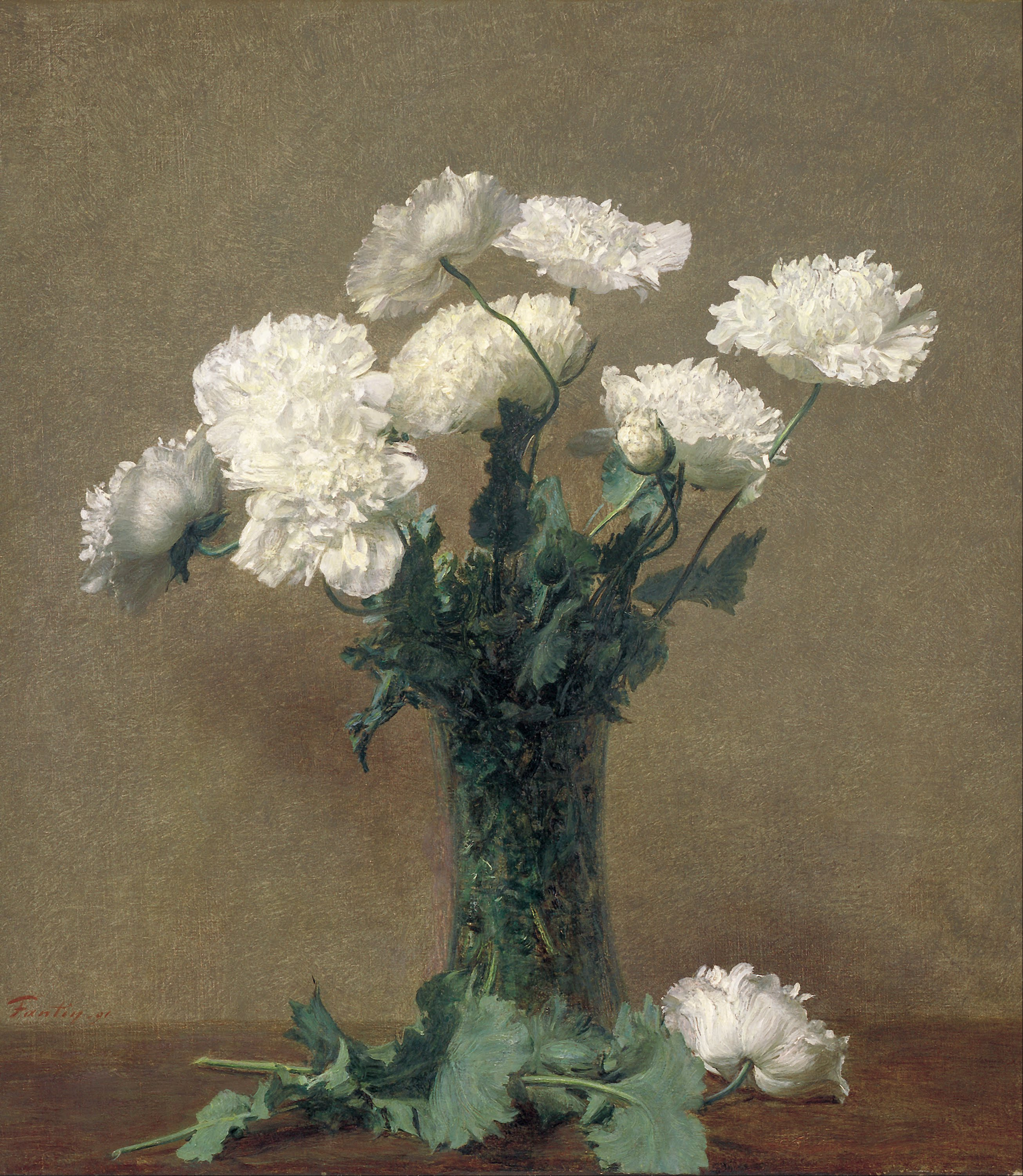Poppies, by Henri Fantin-Latour, 1891