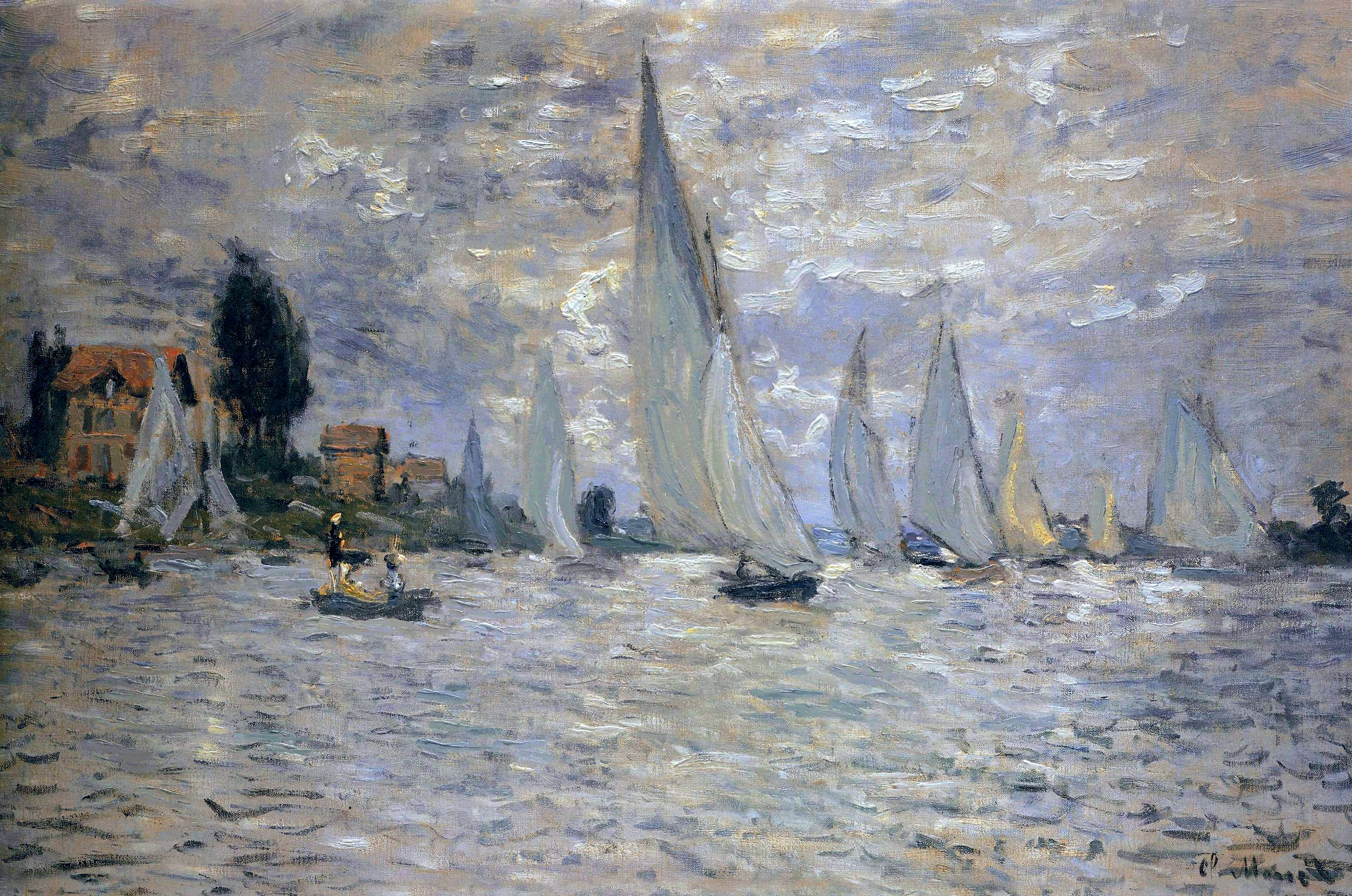 The Boats, Regatta at Argenteuil, by Claude Monet, circa 1874