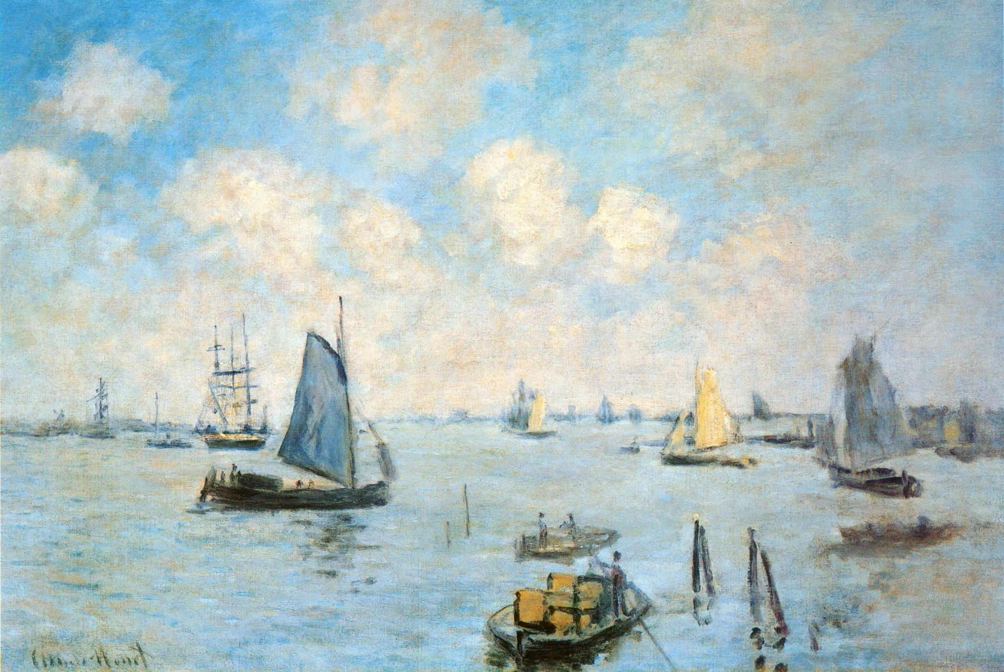 The Sea at Amsterdam, by Claude Monet, circa 1874