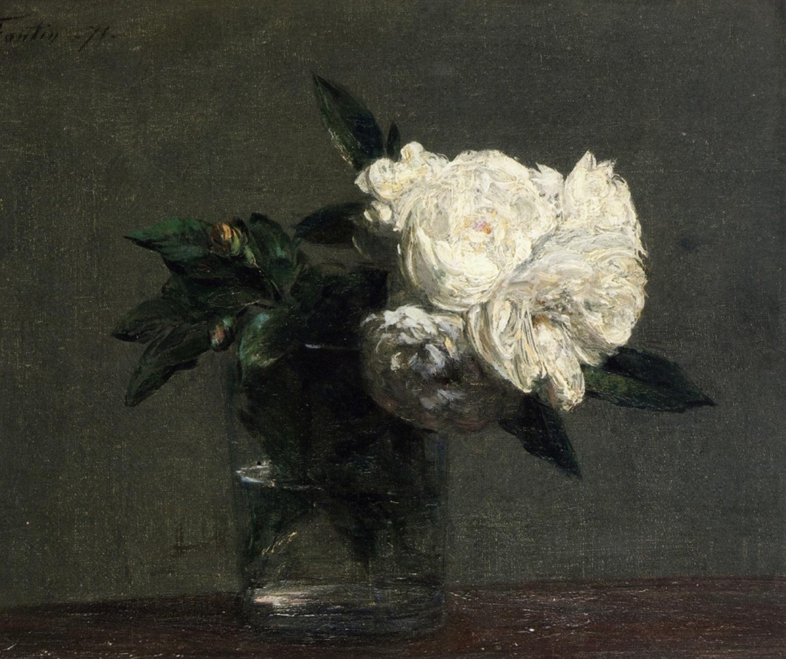 Roses, by Henri Fantin-Latour, 1871
