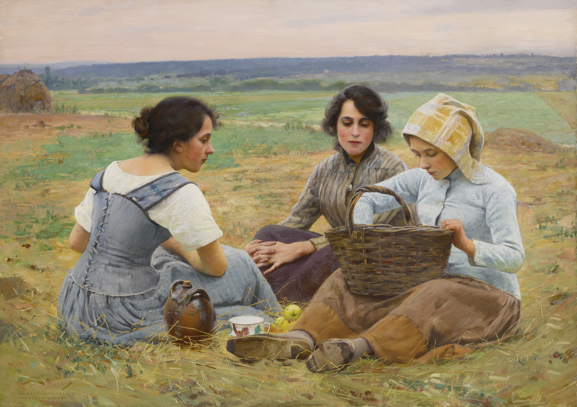 Lunch Break in the Fields, by Charles Sprague Pearce