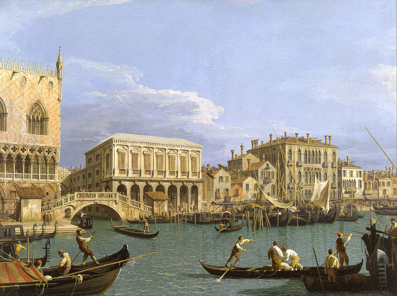View of the Riva degli Schiavoni, Venice, by Canaletto