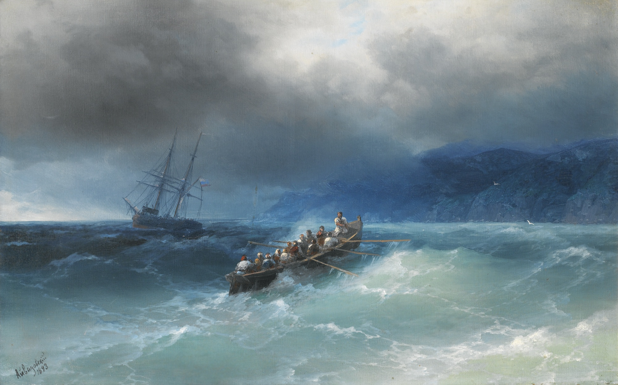 Storm over the Black Sea, by Ivan Konstantinovich Aivazovsky, 1893
