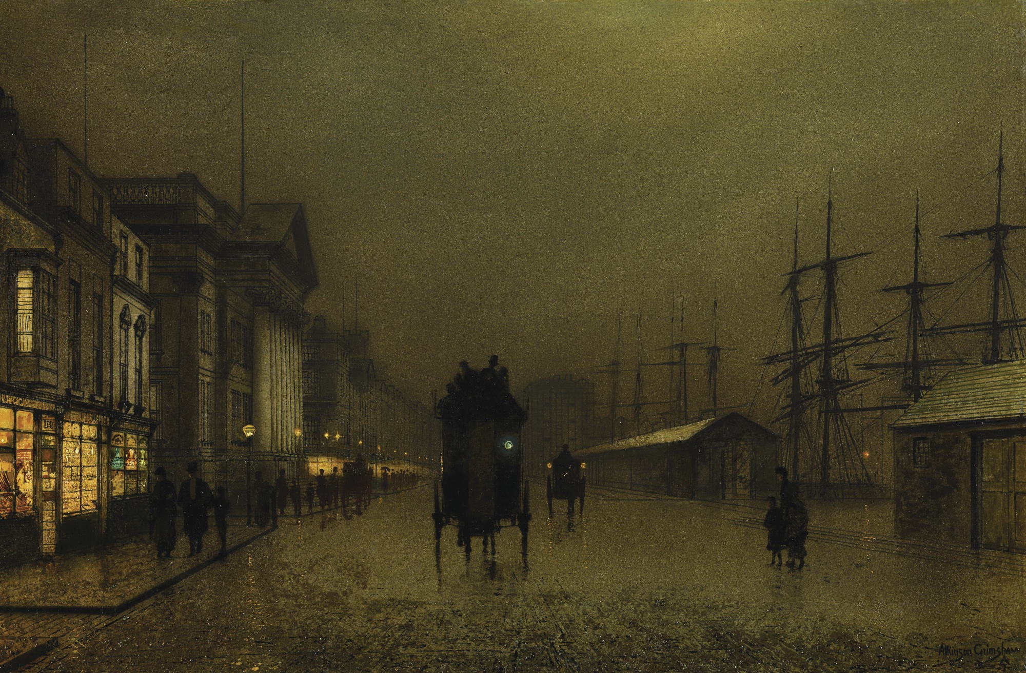 The Docks at Liverpool, by John Atkinson Grimshaw