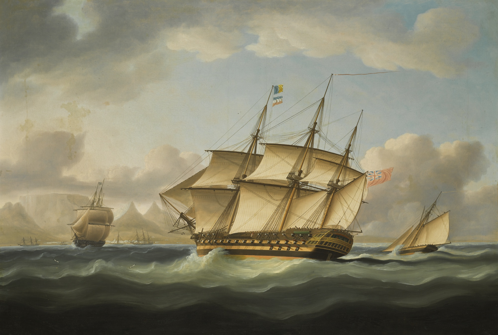 A British Privateer Off the Cape of Good Hope, by Thomas Buttersworth