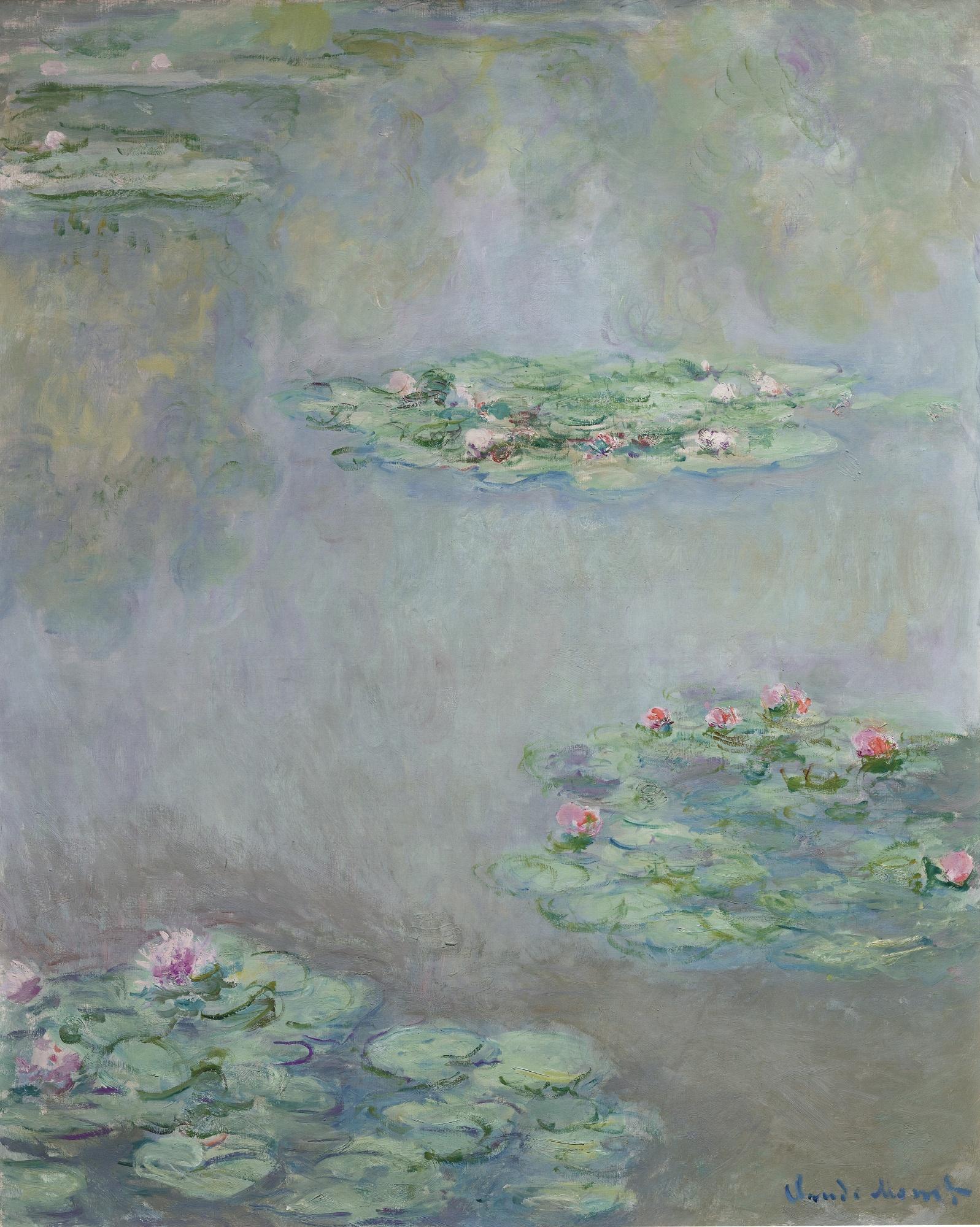 Nymphéas, by Claude Monet, circa 1908