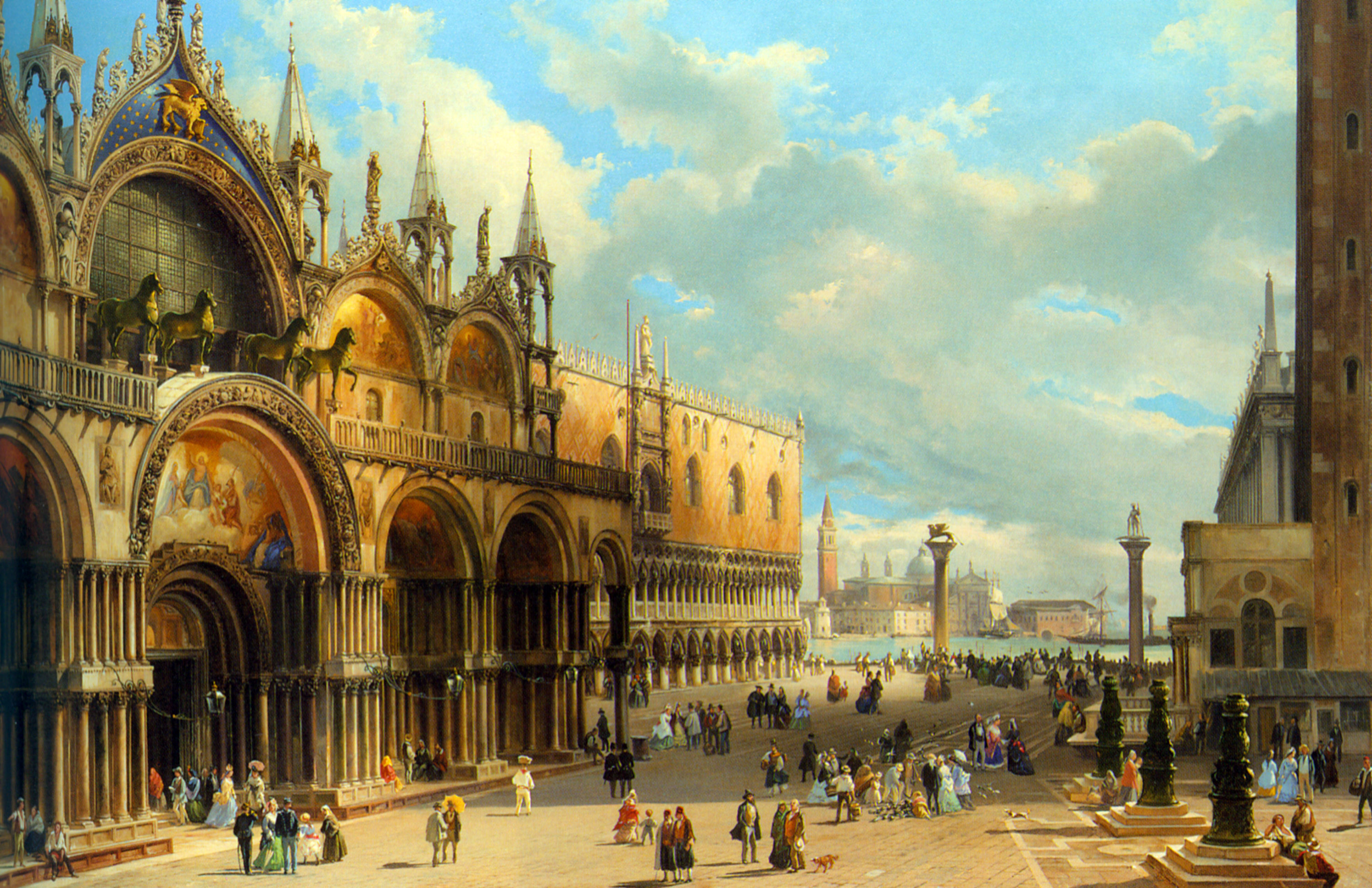 St. Marks Square and the Doge's Palace, Venice, Italy, by Carlo Grubacs