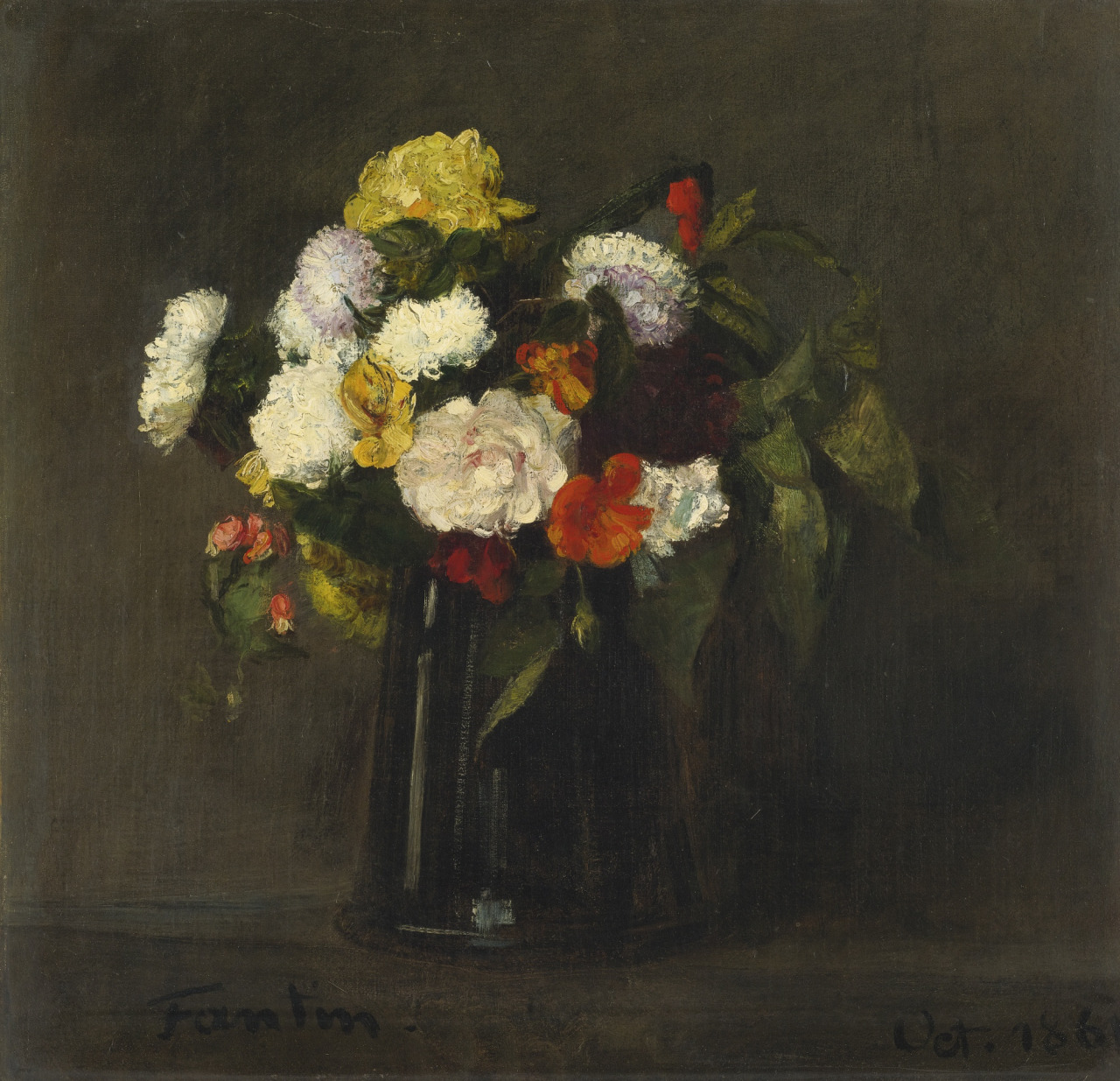 Flowers, by Henri Fantin-Latour, 1861