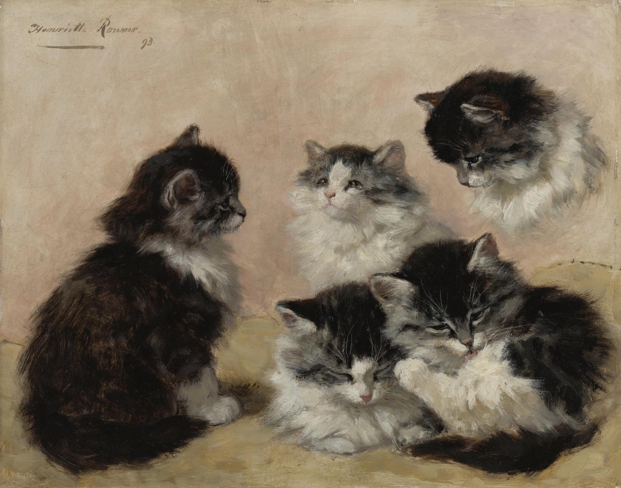 Kittens, by Henriëtte Ronner-Knip, 1893