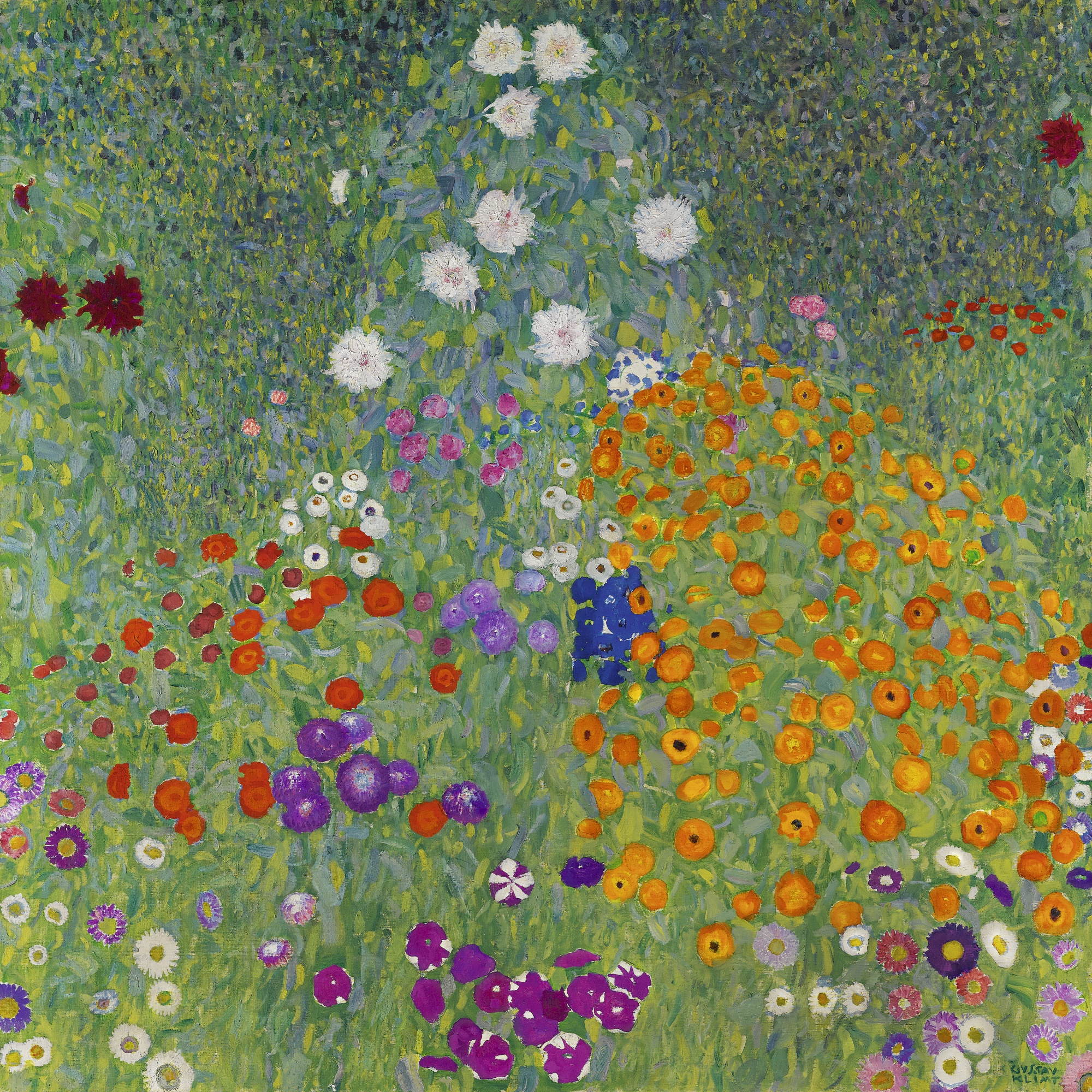 Flower Garden, by Gustav Klimt, 1907