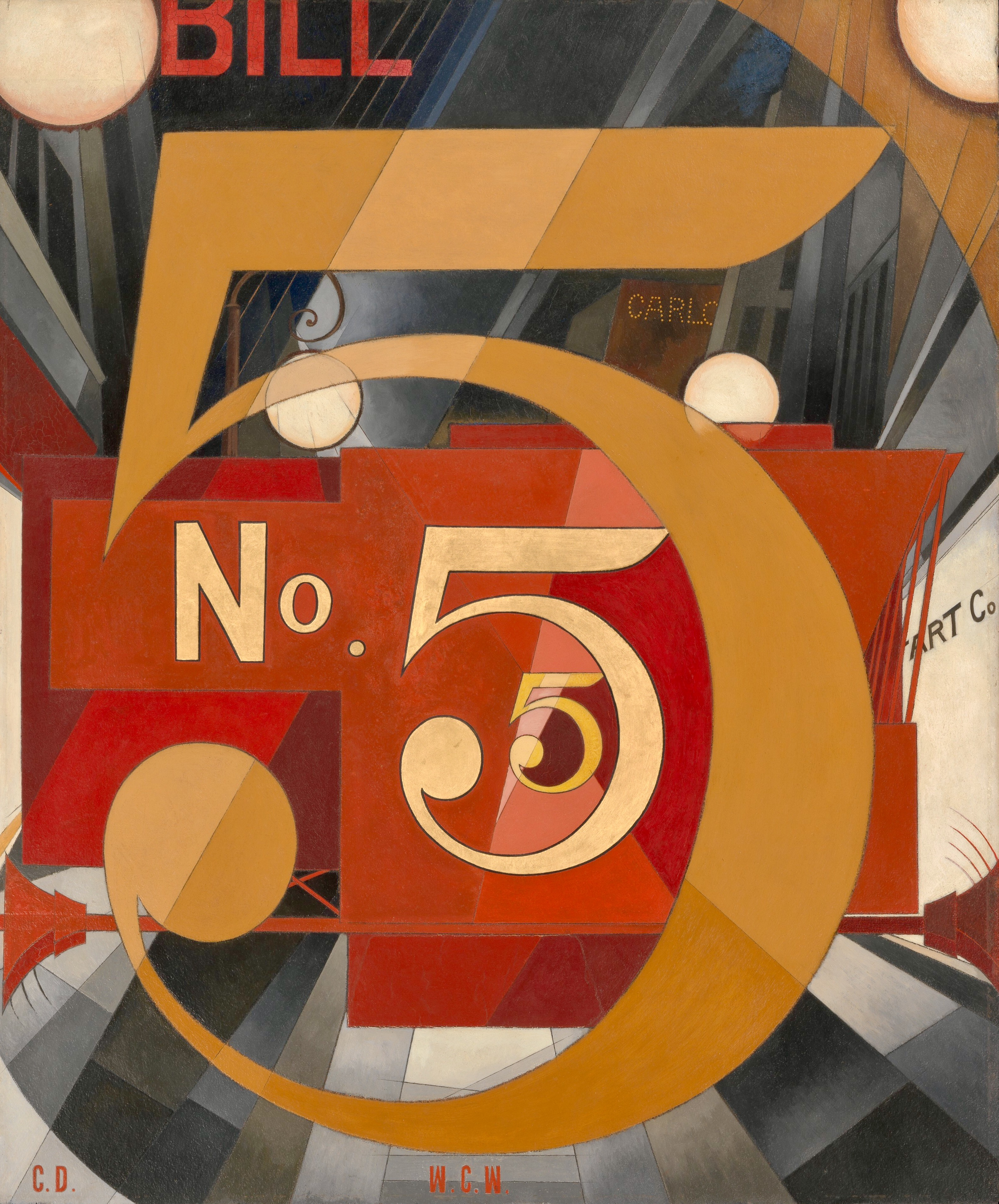 I Saw the Figure 5 in Gold, by Charles Demuth, 1928