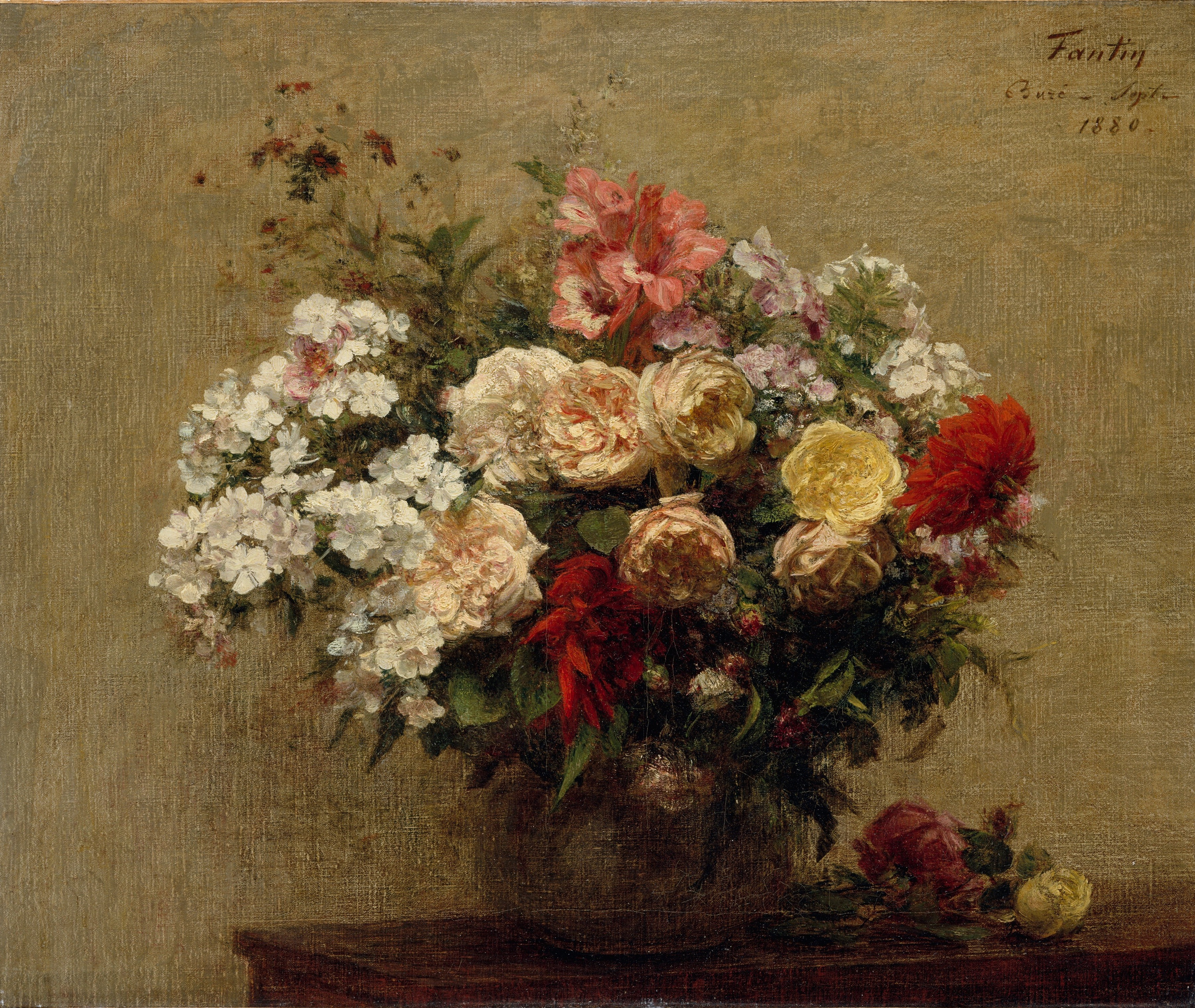 Summer Flowers by Henri Fantin-Latour, 1880, by The Met