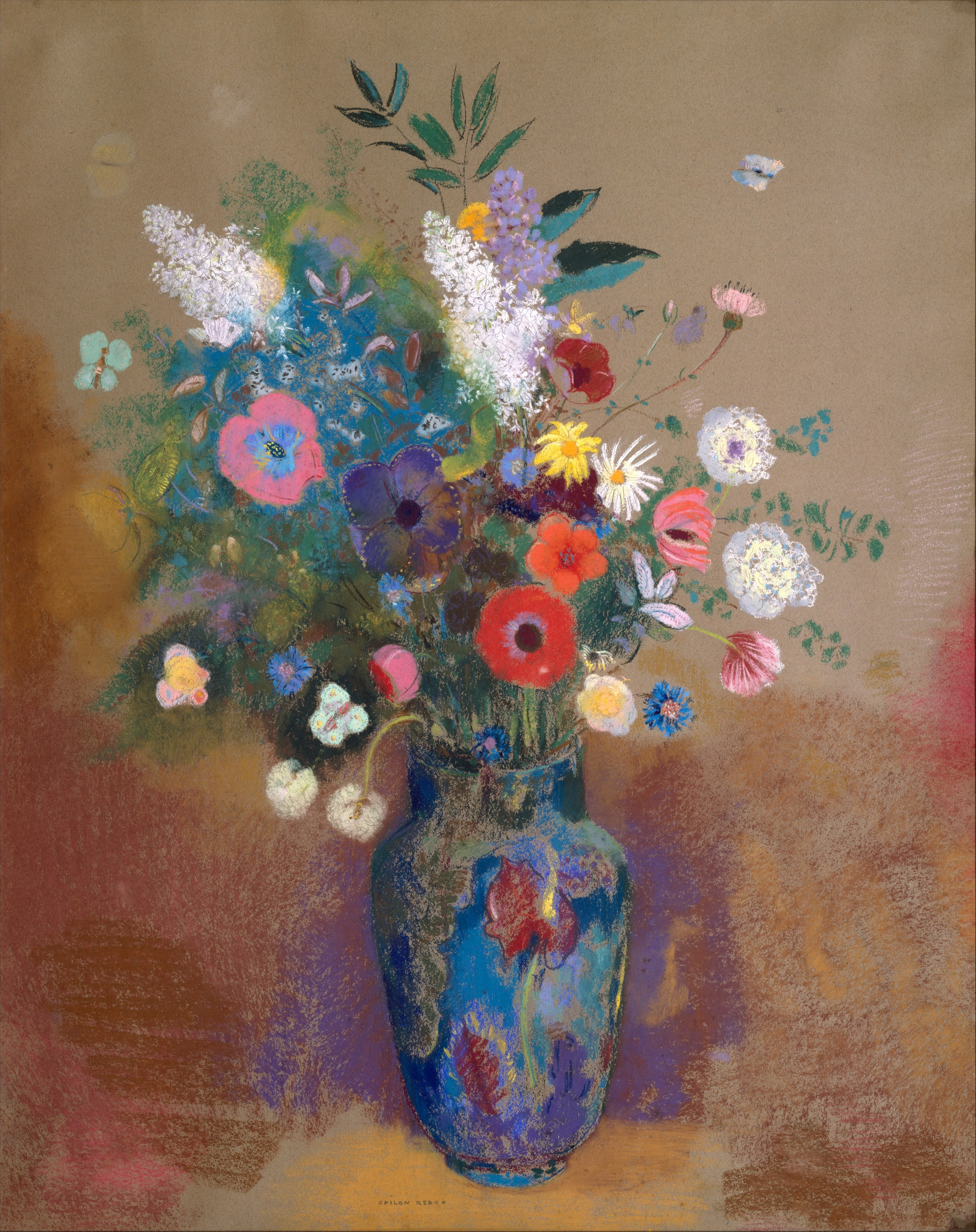Bouquet of Flowers by Odilon Redon, circa 1905