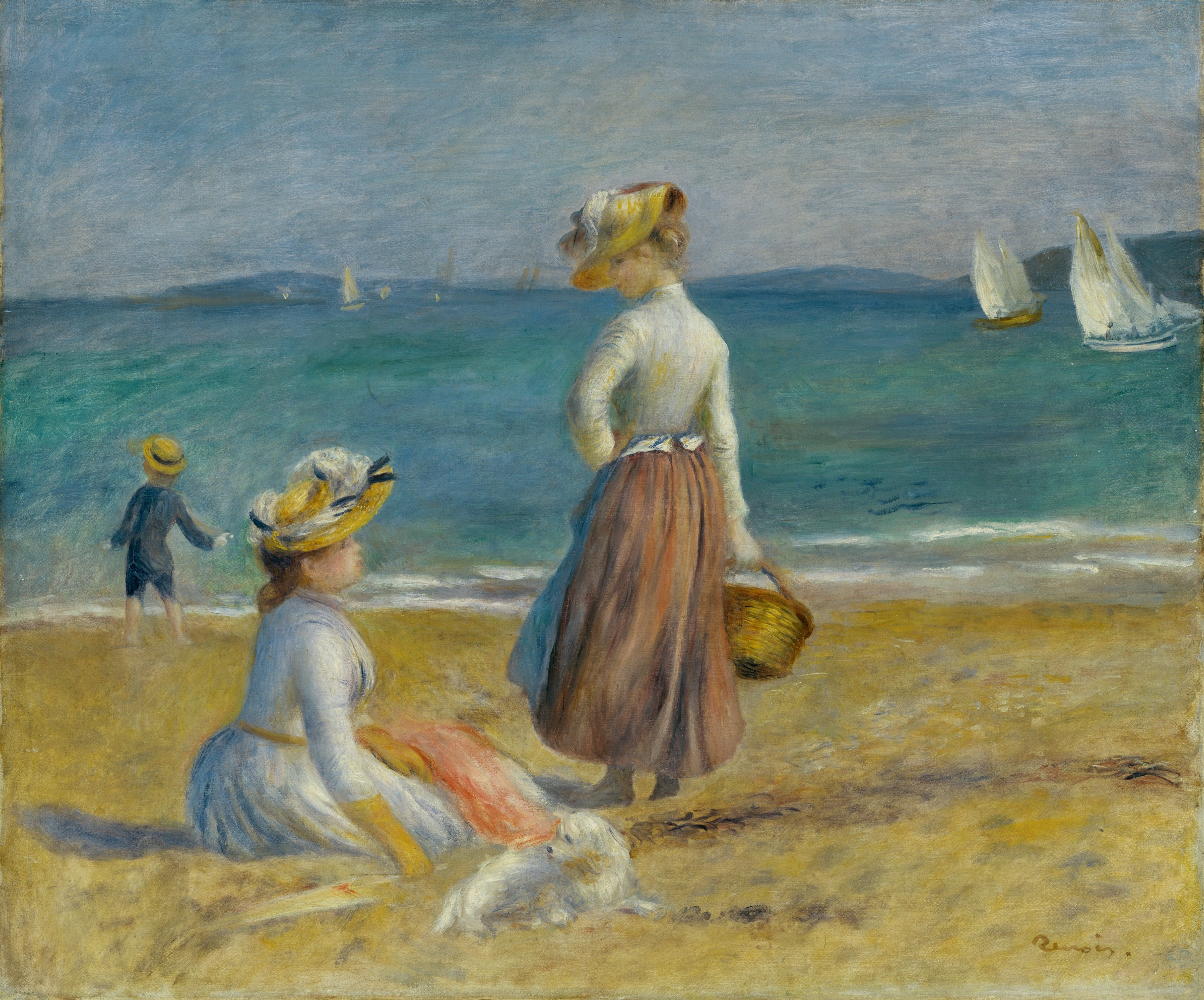 Figures on the Beach, by Pierre Auguste Renoir, 1890, by The Met