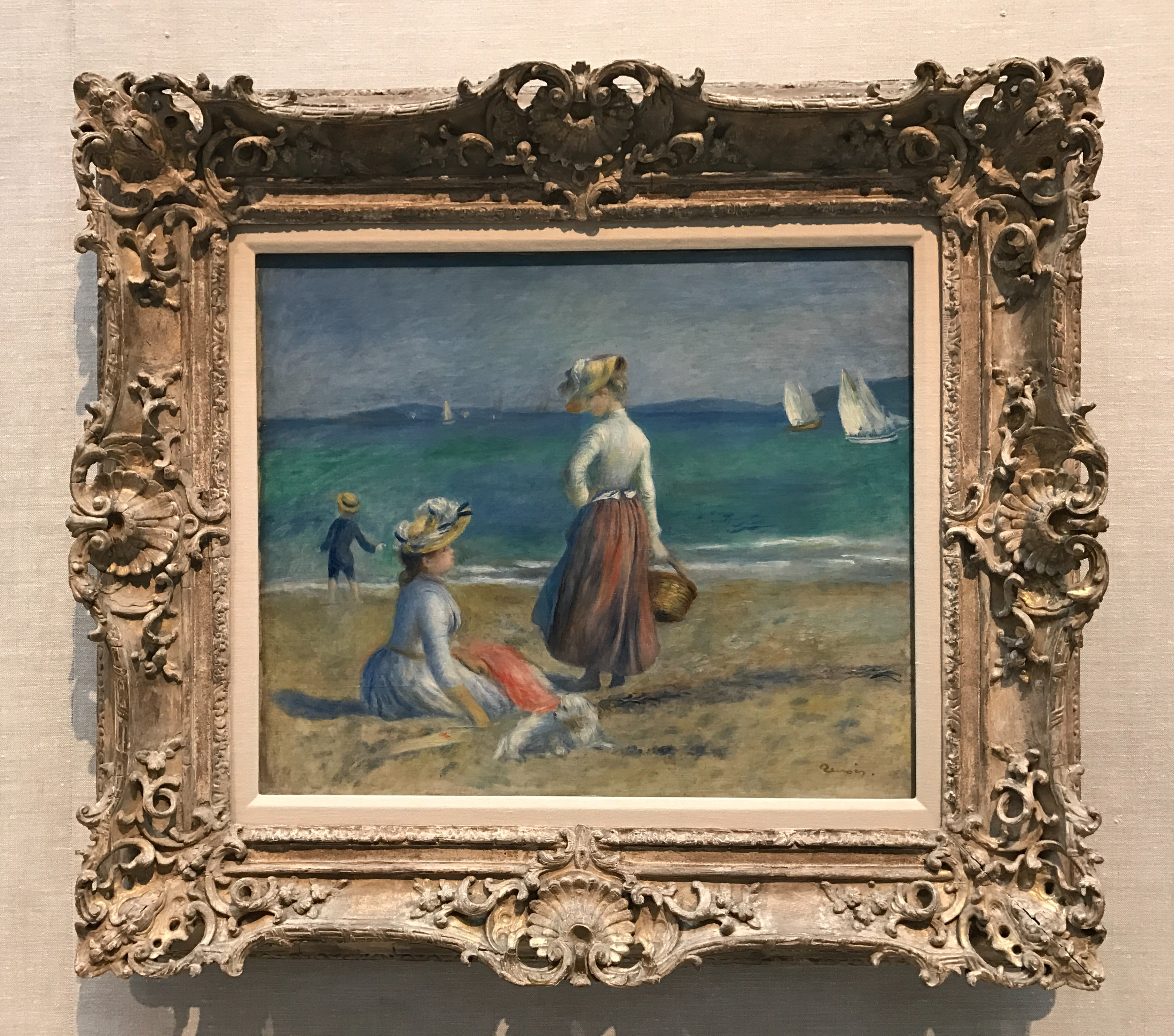 Figures on the Beach, by Pierre Auguste Renoir, 1890, my photo