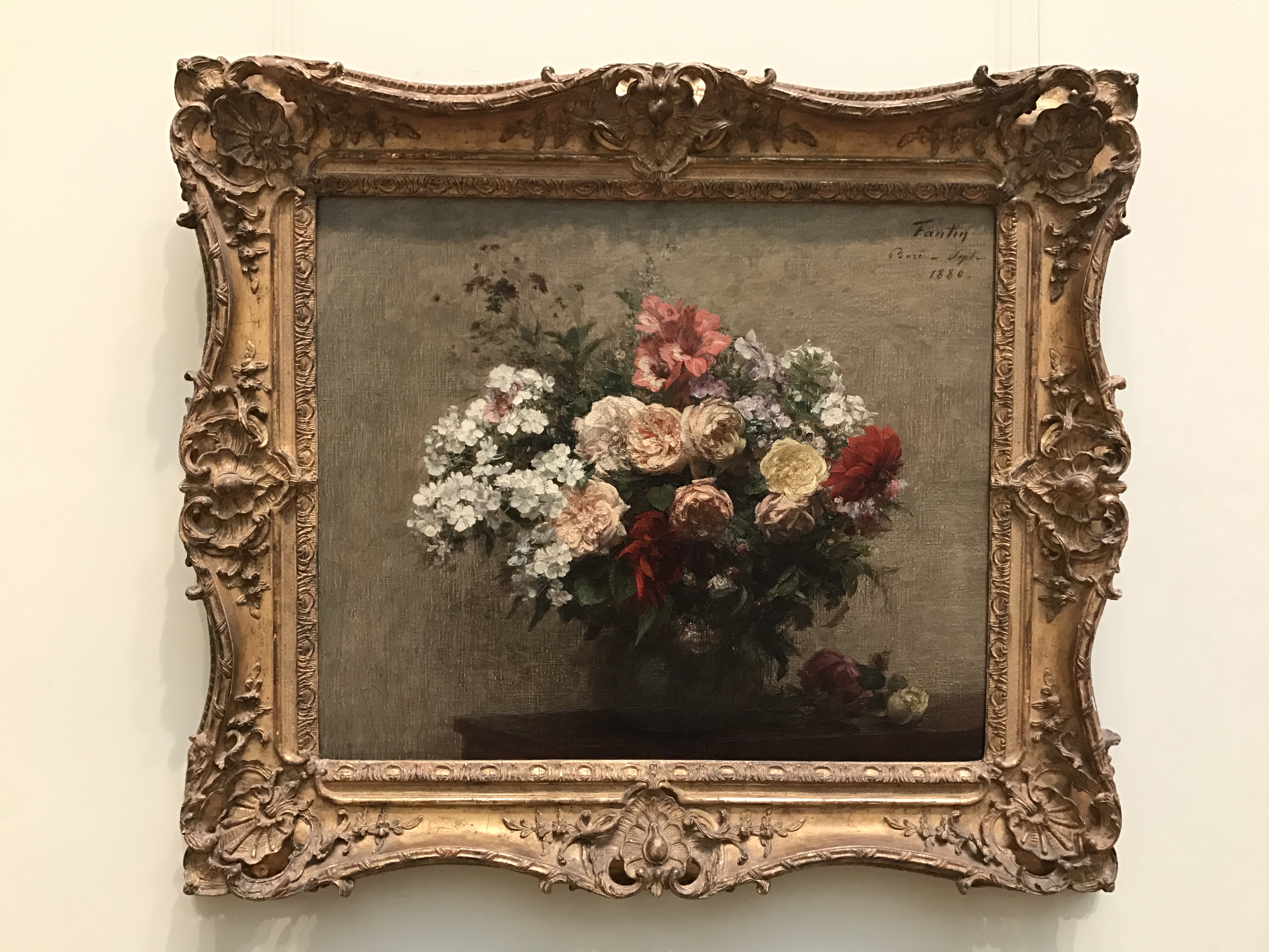 Summer Flowers by Henri Fantin-Latour, 1880, my photo, full frame