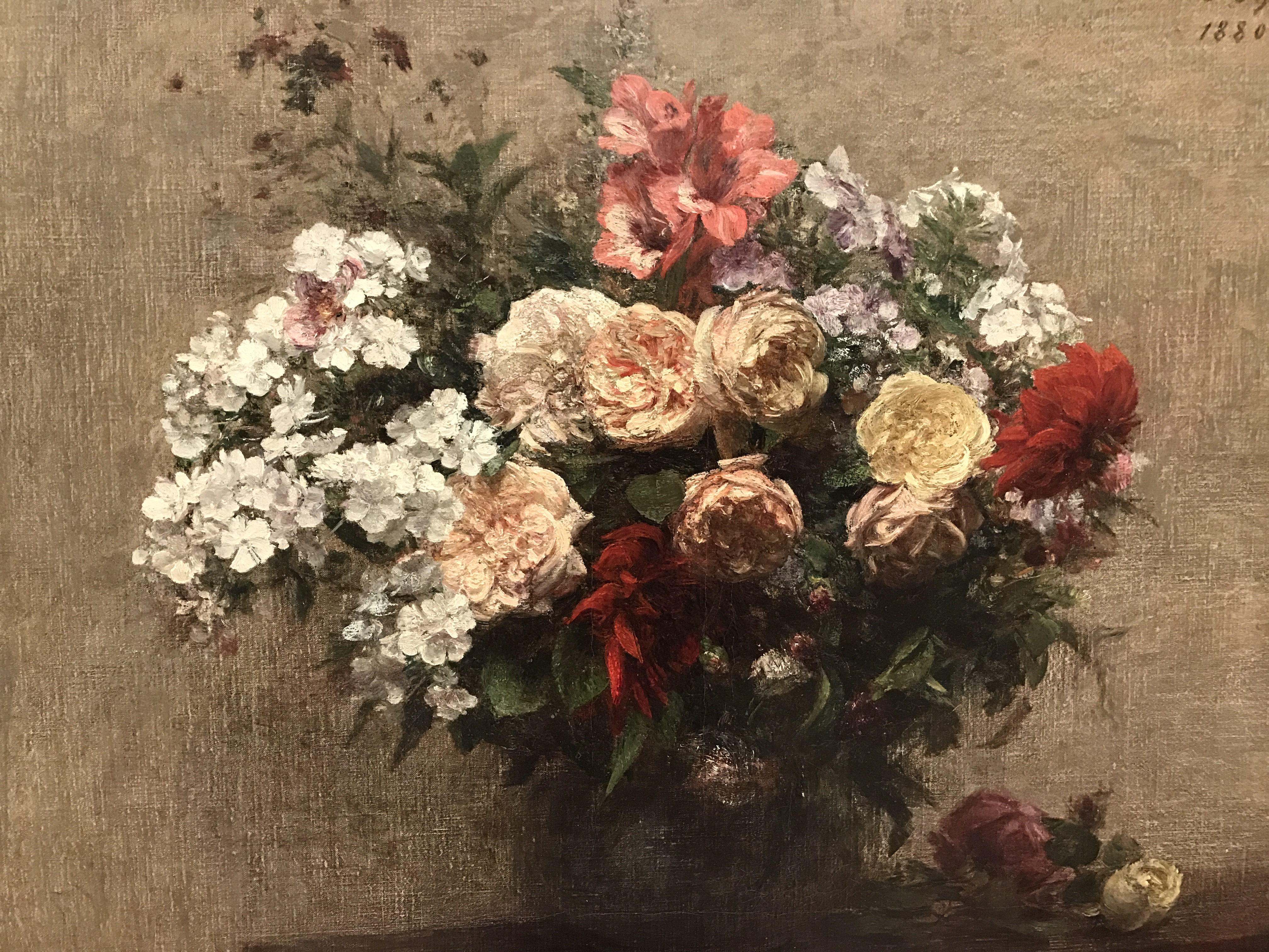 Summer Flowers by Henri Fantin-Latour, 1880, my photo