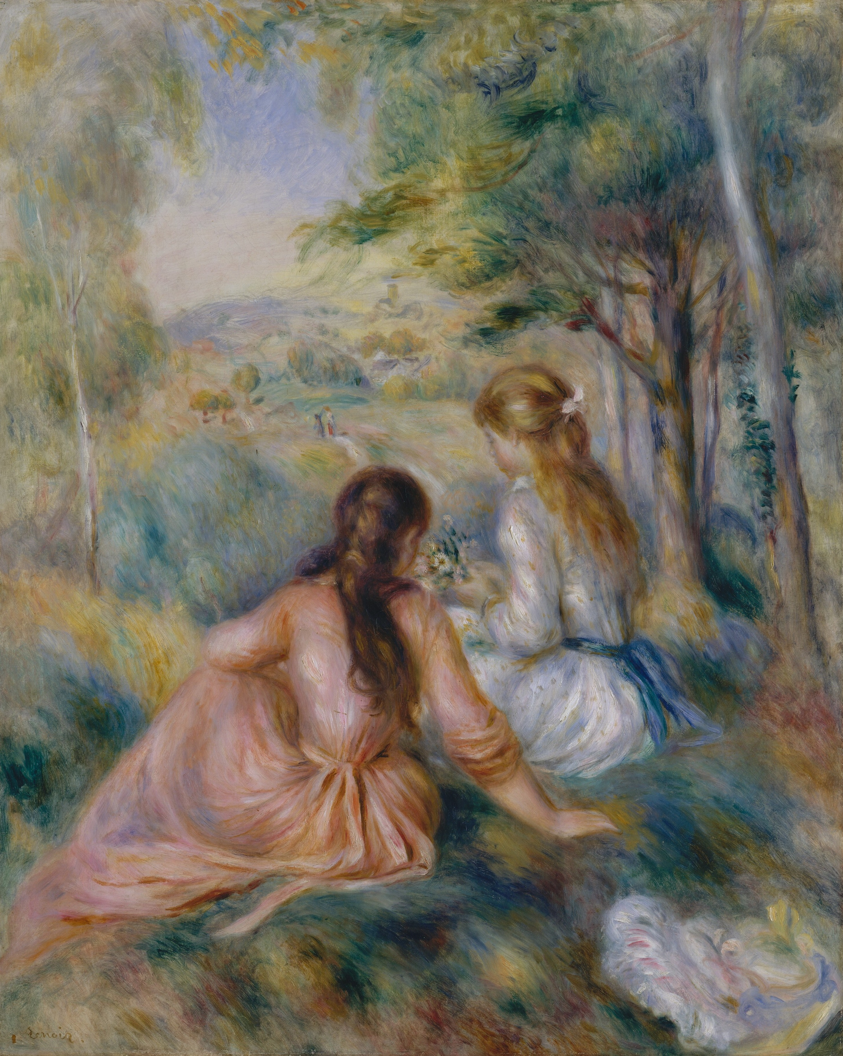 In the Meadow, by Pierre Auguste Renoir, circa 1888, photo by The Met