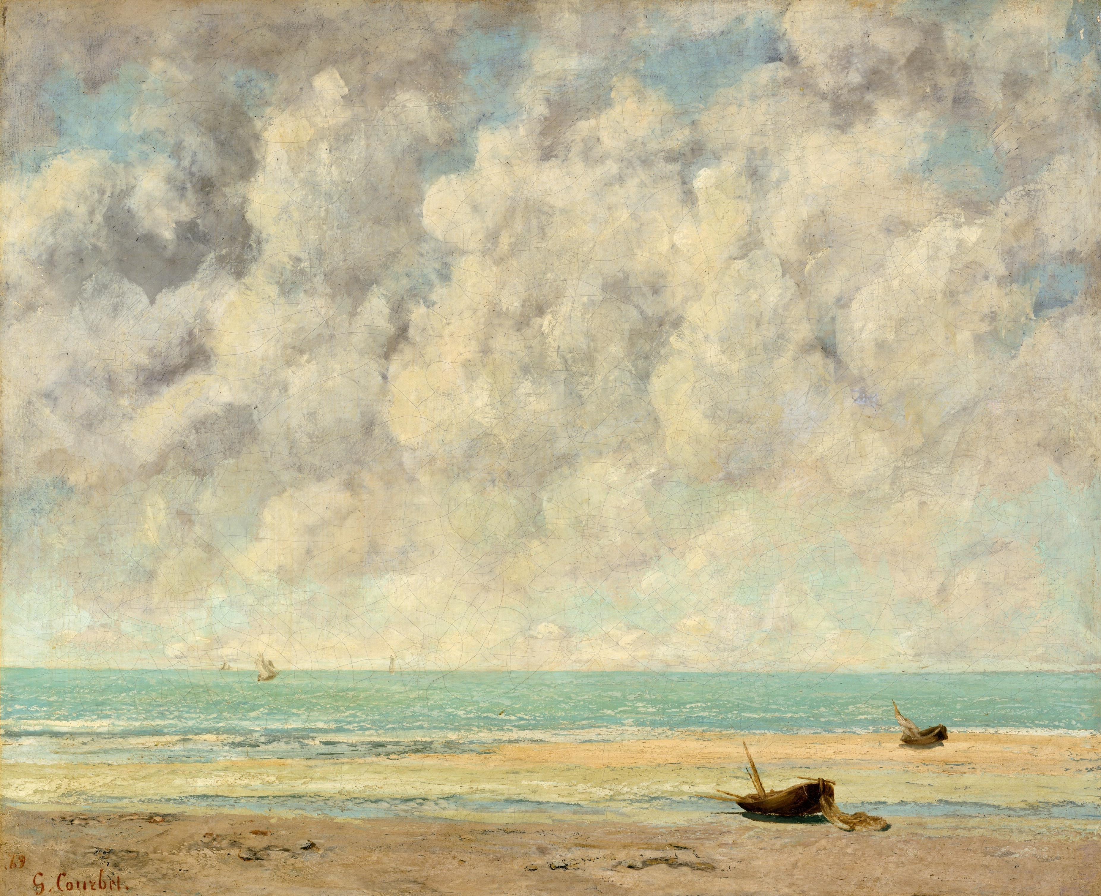 The Calm Sea, by Gustav Courbet, 1869, by The Met
