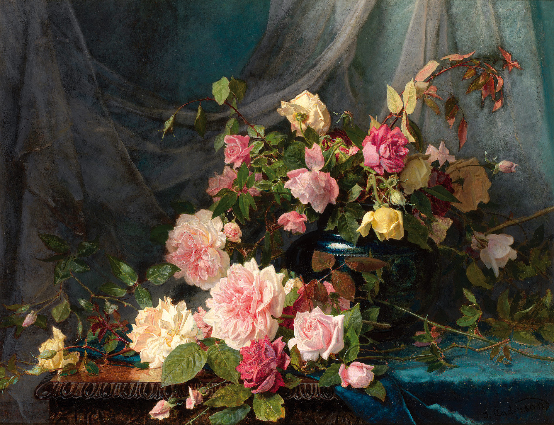 Roses, by Sophie Gengembre Anderson