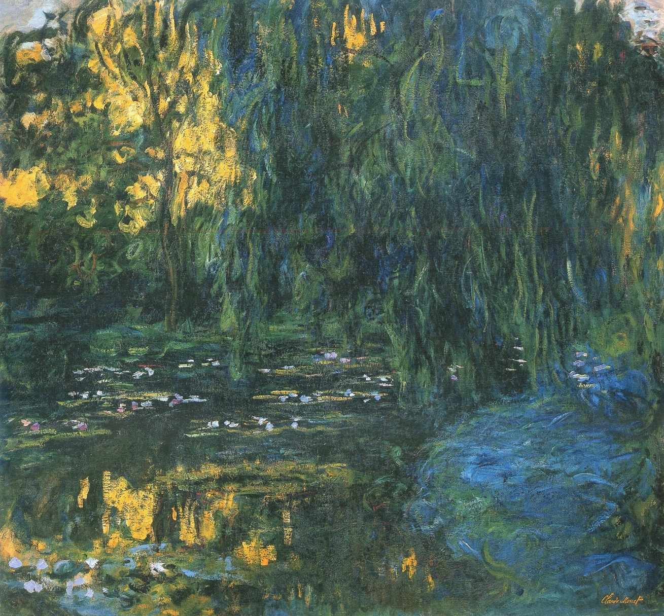 Water Lily Pond and Weeping Willow, by Claude Monet, circa 1916