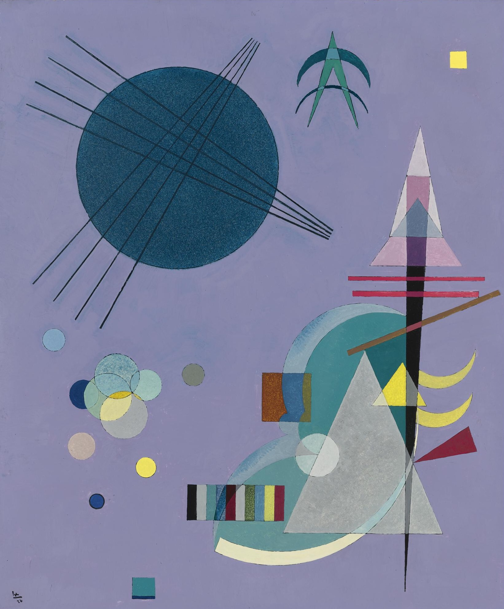 Violet-Green, by Wassily Kandinsky, 1926