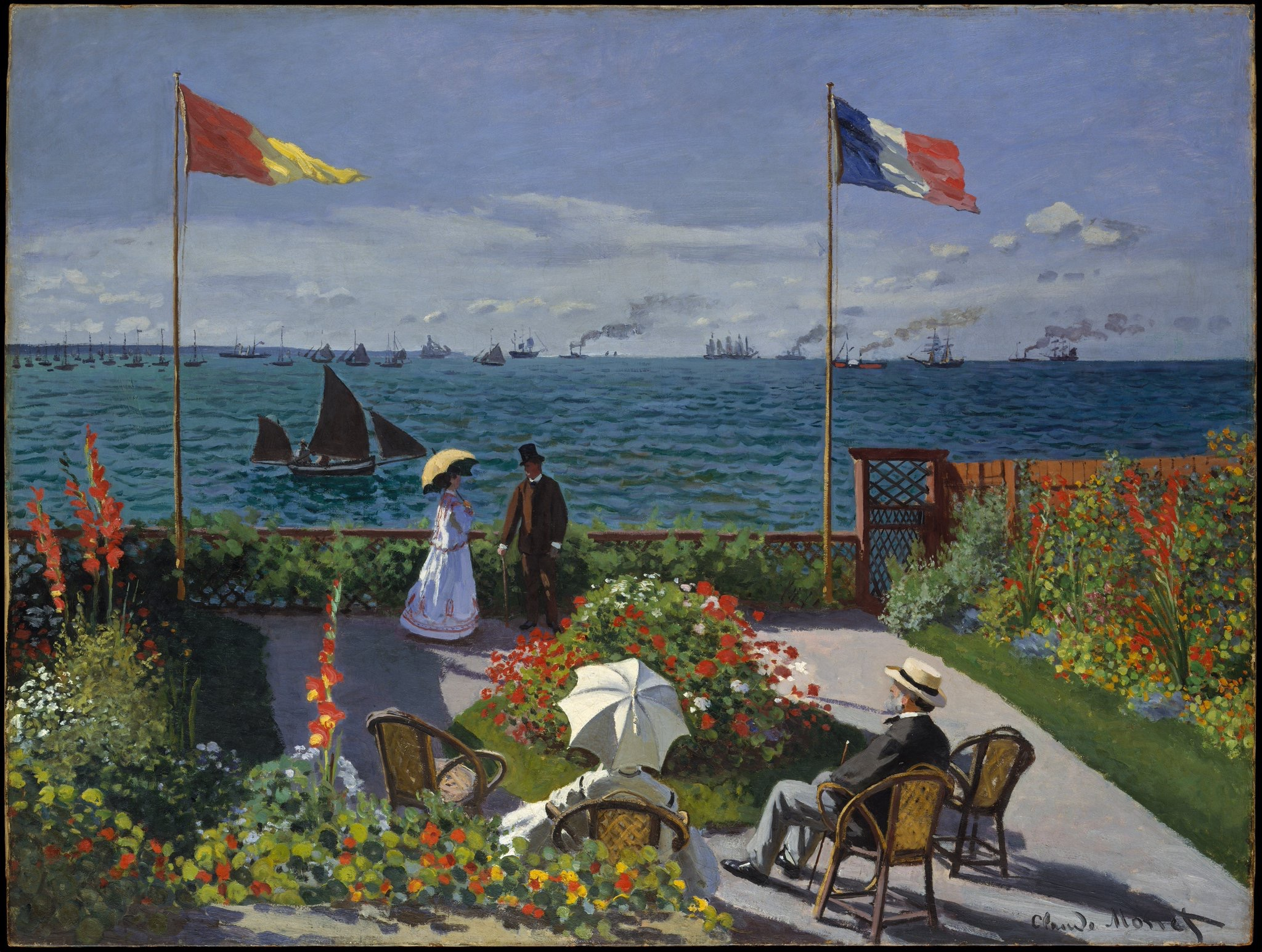 Garden at Sainte-Adresse, by Claude Monet, 1867