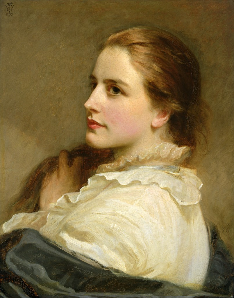Alice, a Portrait by Henry Tanworth Wells, 1877