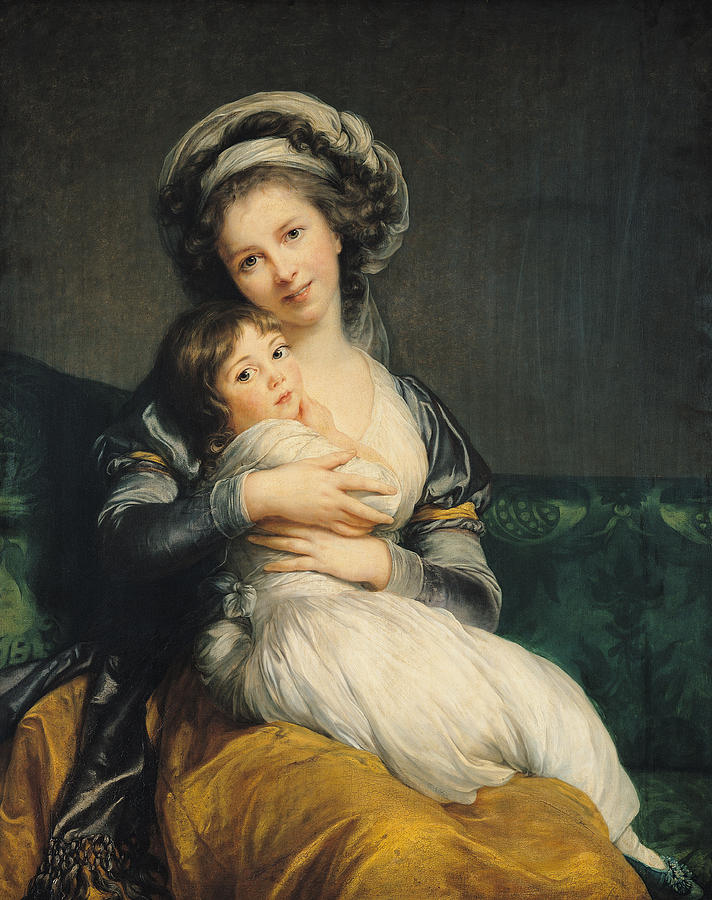 Self Portrait with Her Daughter, Julie, by Élisabeth Louise Vigée-Le Brun, 1786
