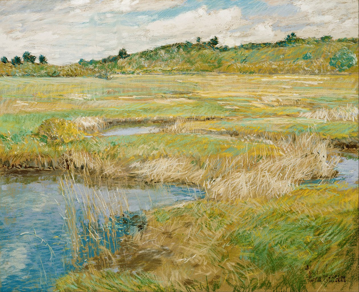 The Concord Meadow, by Childe Hassam, circa 1891