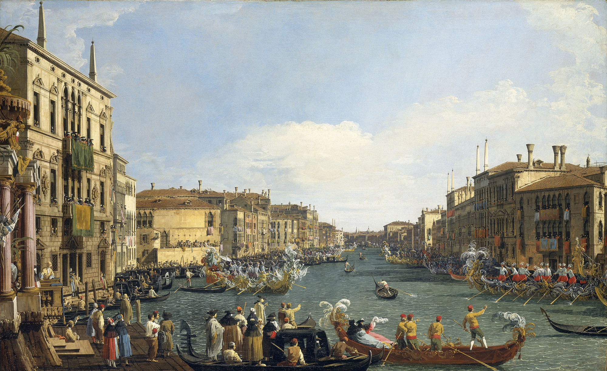 A Regatta on the Grand Canal  circa 1733-4
