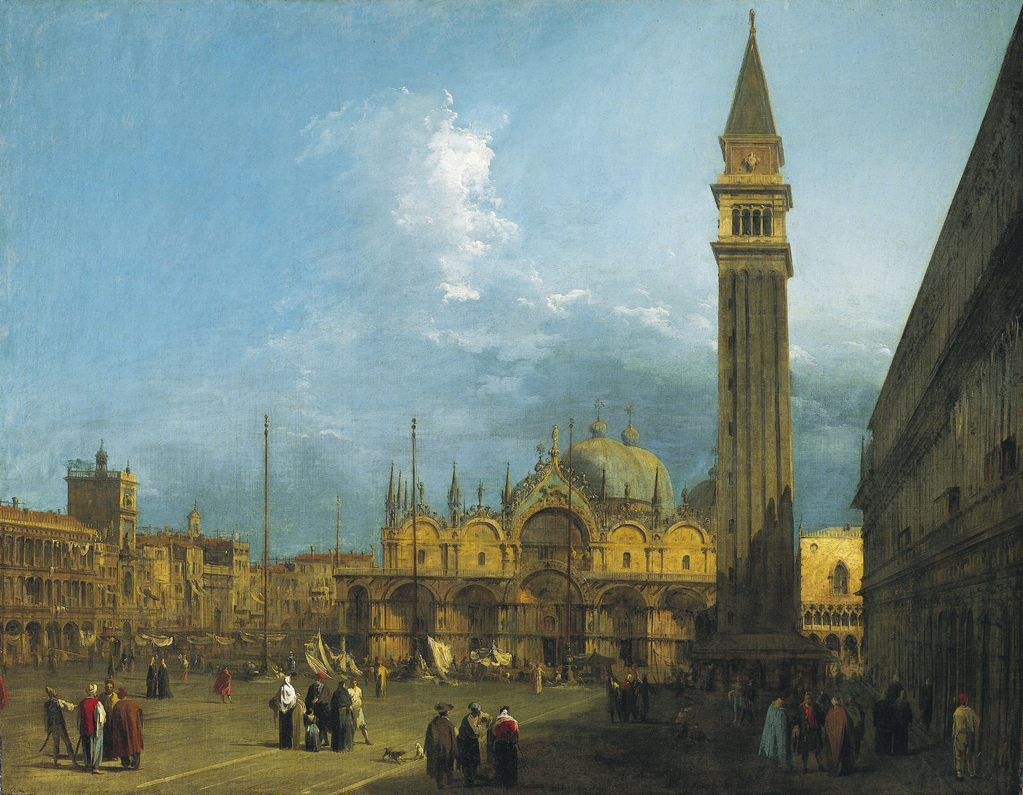 Piazza San Marco looking East towards the Basilica and the Campanile, circa 1723-4