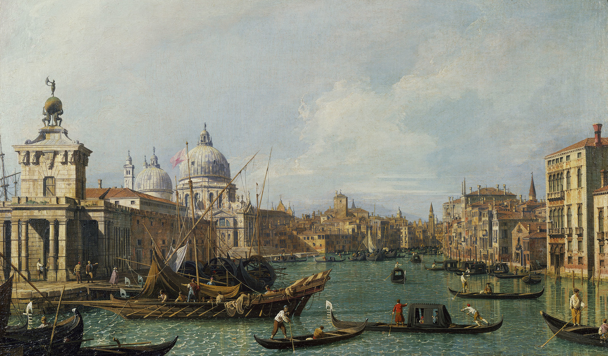 The mouth of the Grand Canal looking west towards the Carità, circa 1729-30