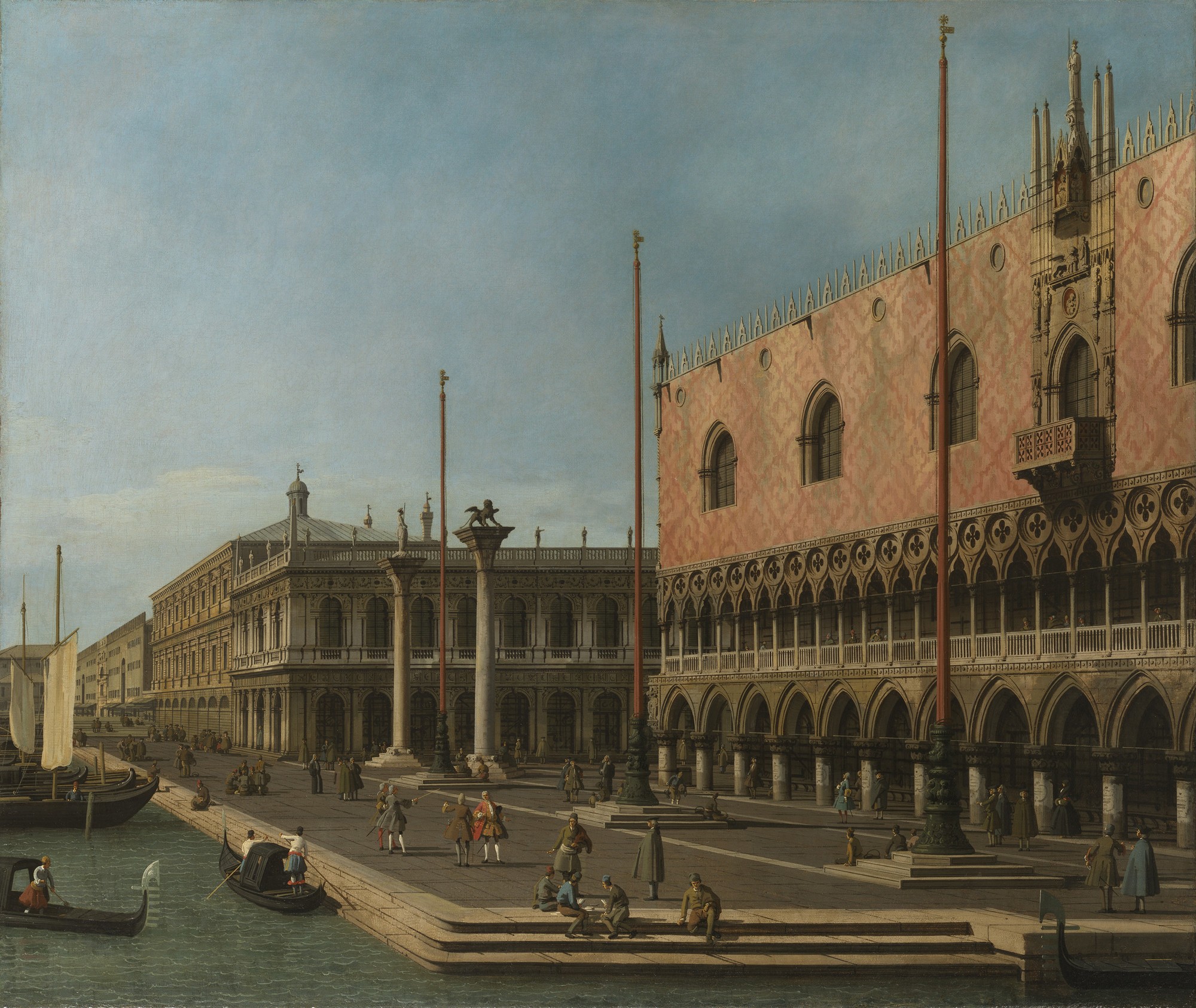 Capriccio View of the Molo and the Palazzo Ducale, 1744, After restoration